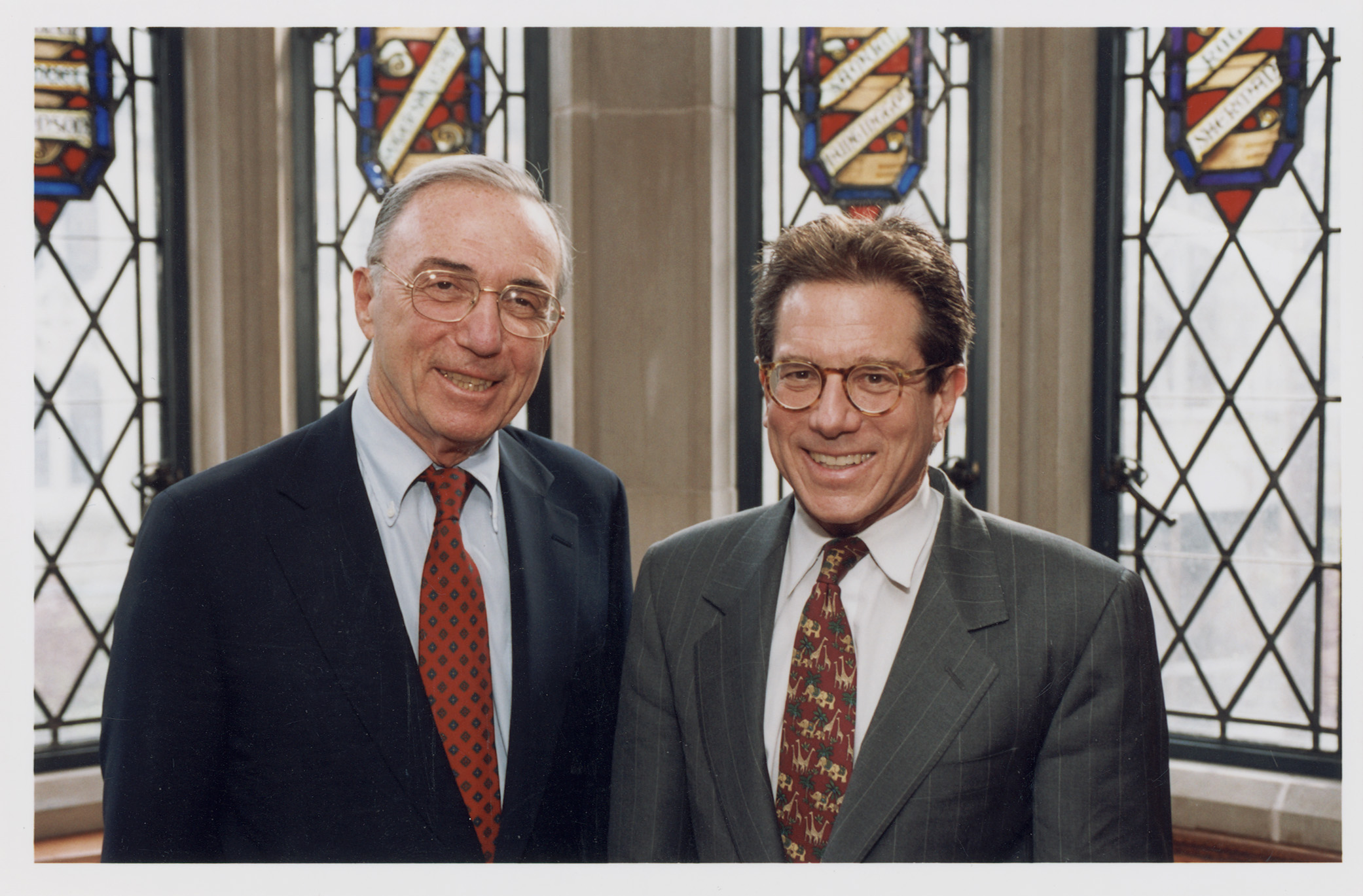 Robert Todd Lang '47 and YLS Dean Anthony Kronman '75