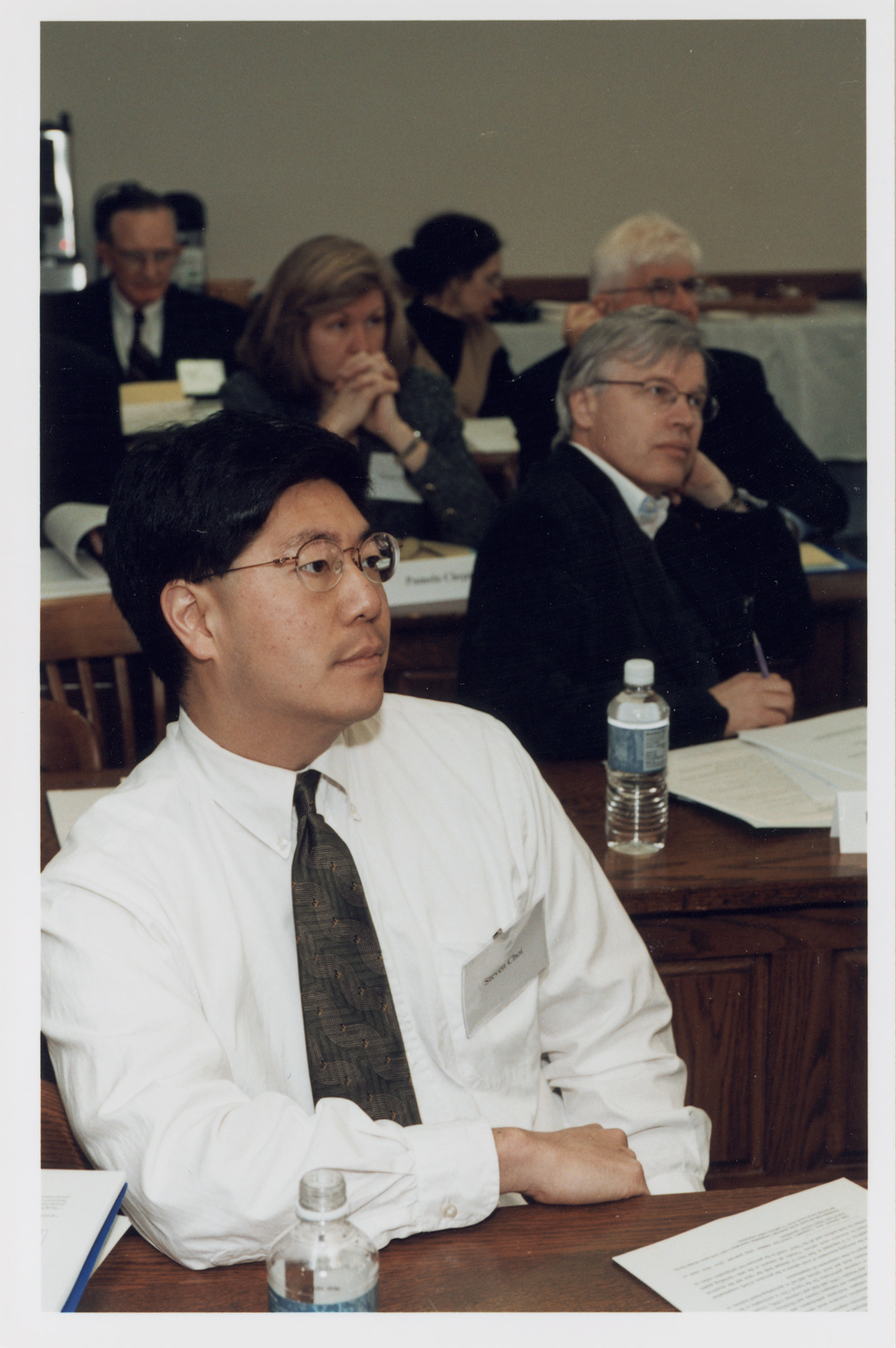 Berkeley Law Prof. Stephen Choi (foreground)