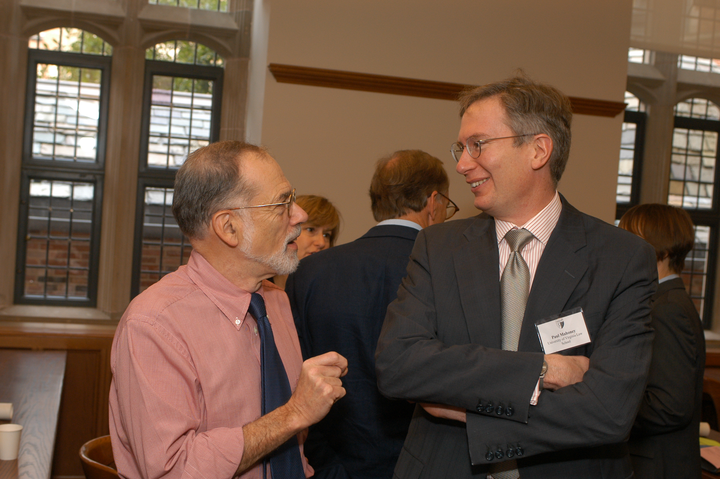 YLS Prof. Al Klevorick and UVA Law Prof. Paul Mahoney '84