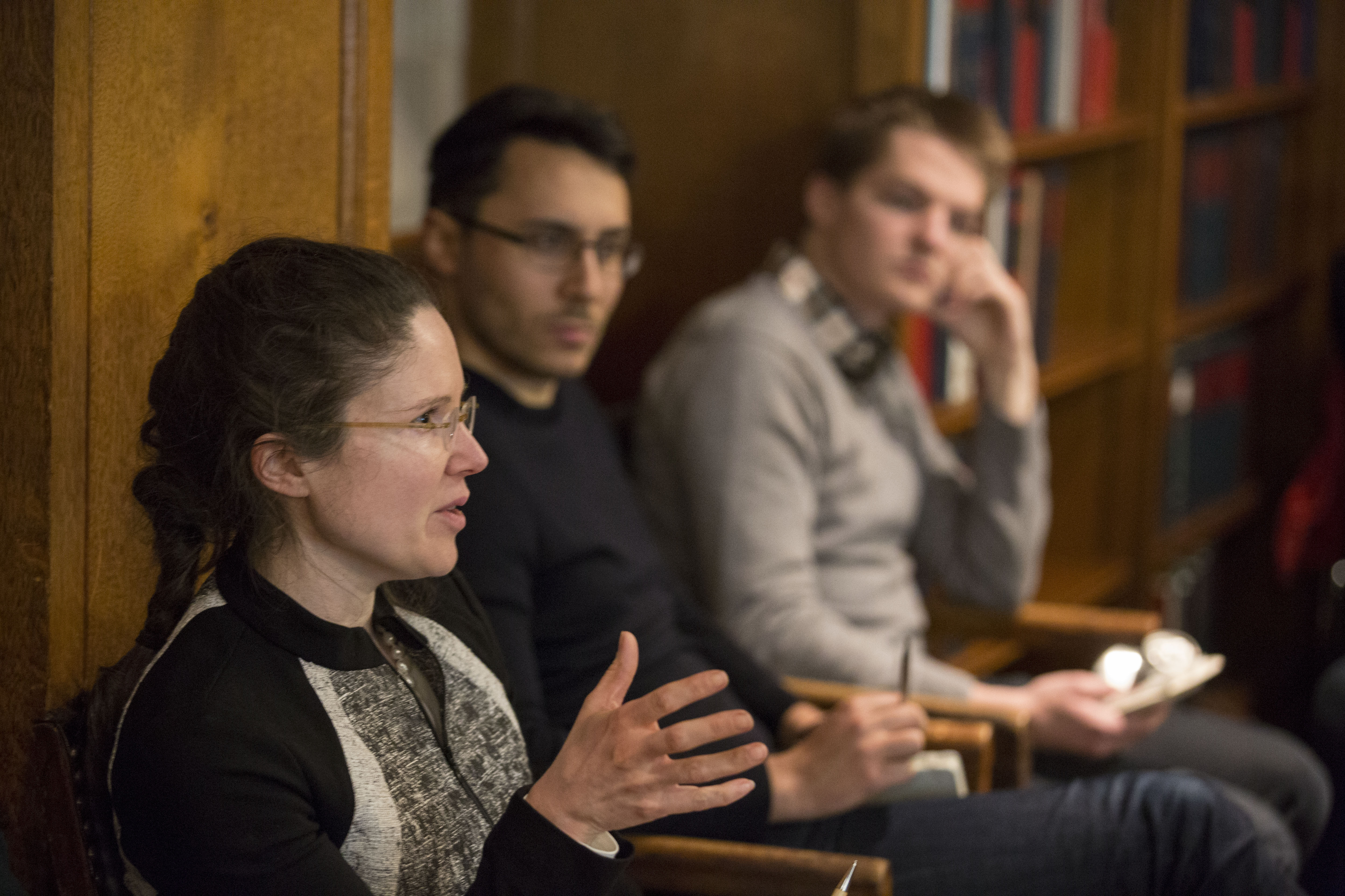 Yale Epidemiology Prof. Alison P. Galvani asking a question