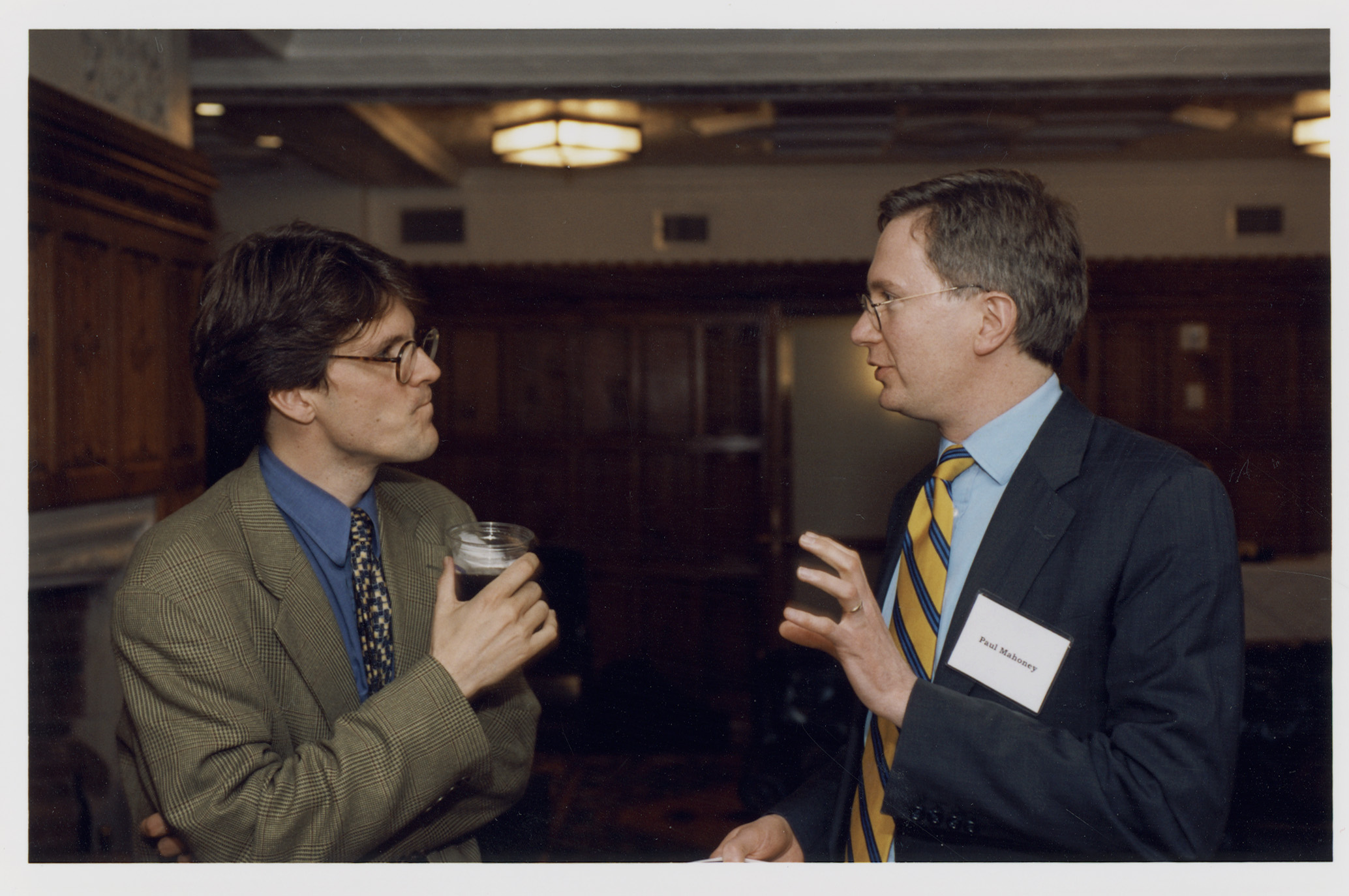 Harvard Law Prof. John Coates and UVA Law Prof. Paul Mahoney '84