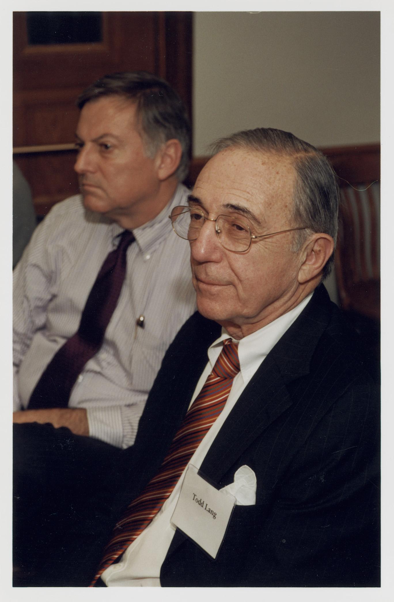Robert Todd Lang '47 (foreground)