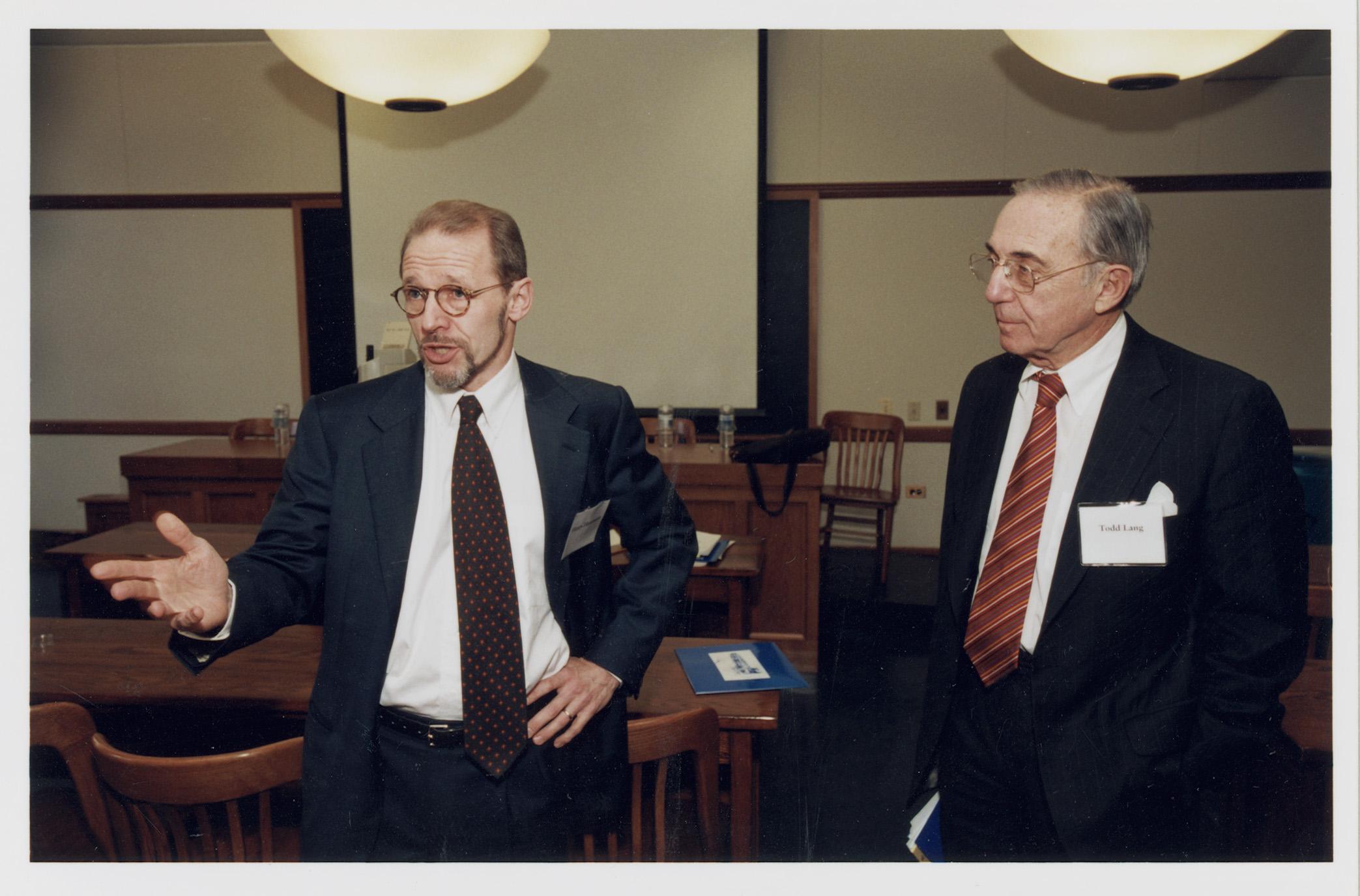 YLS Prof. Henry Hansmann '74 and Robert Todd Lang '47
