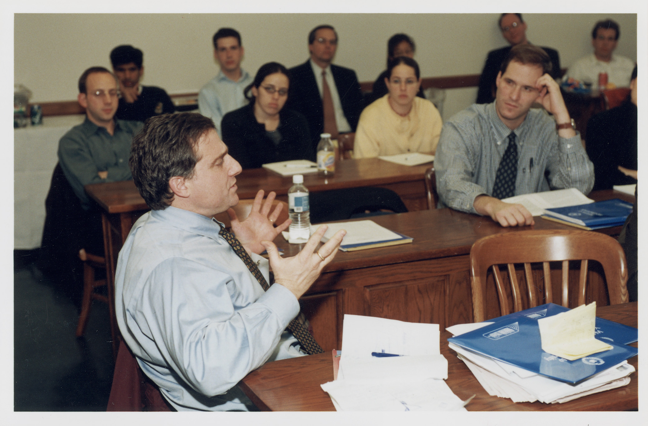 Cornell Law Prof. Jonathan Macey '82 commenting as audience listens