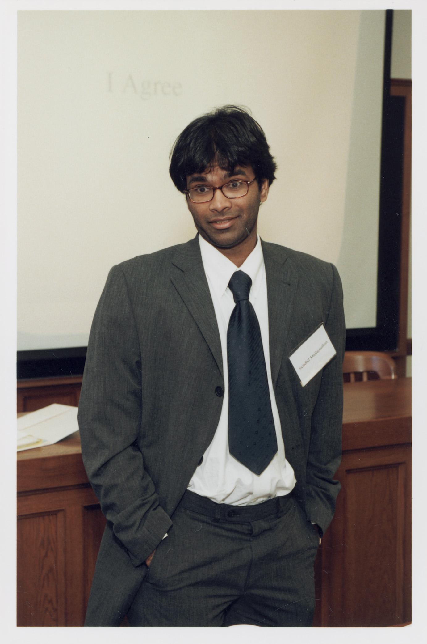 MIT Econ. Prof. Sendhil Mullainathan