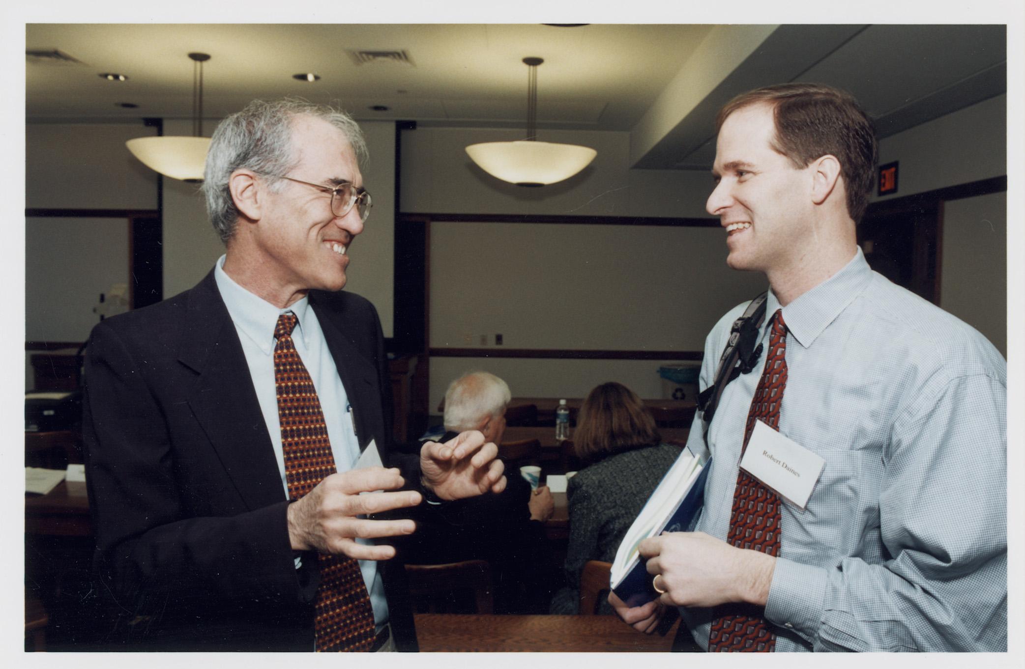 NYU Stern Prof. Yakov Amihud and NYU Law Prof. and Visiting YLS Prof. Robert Daines '92