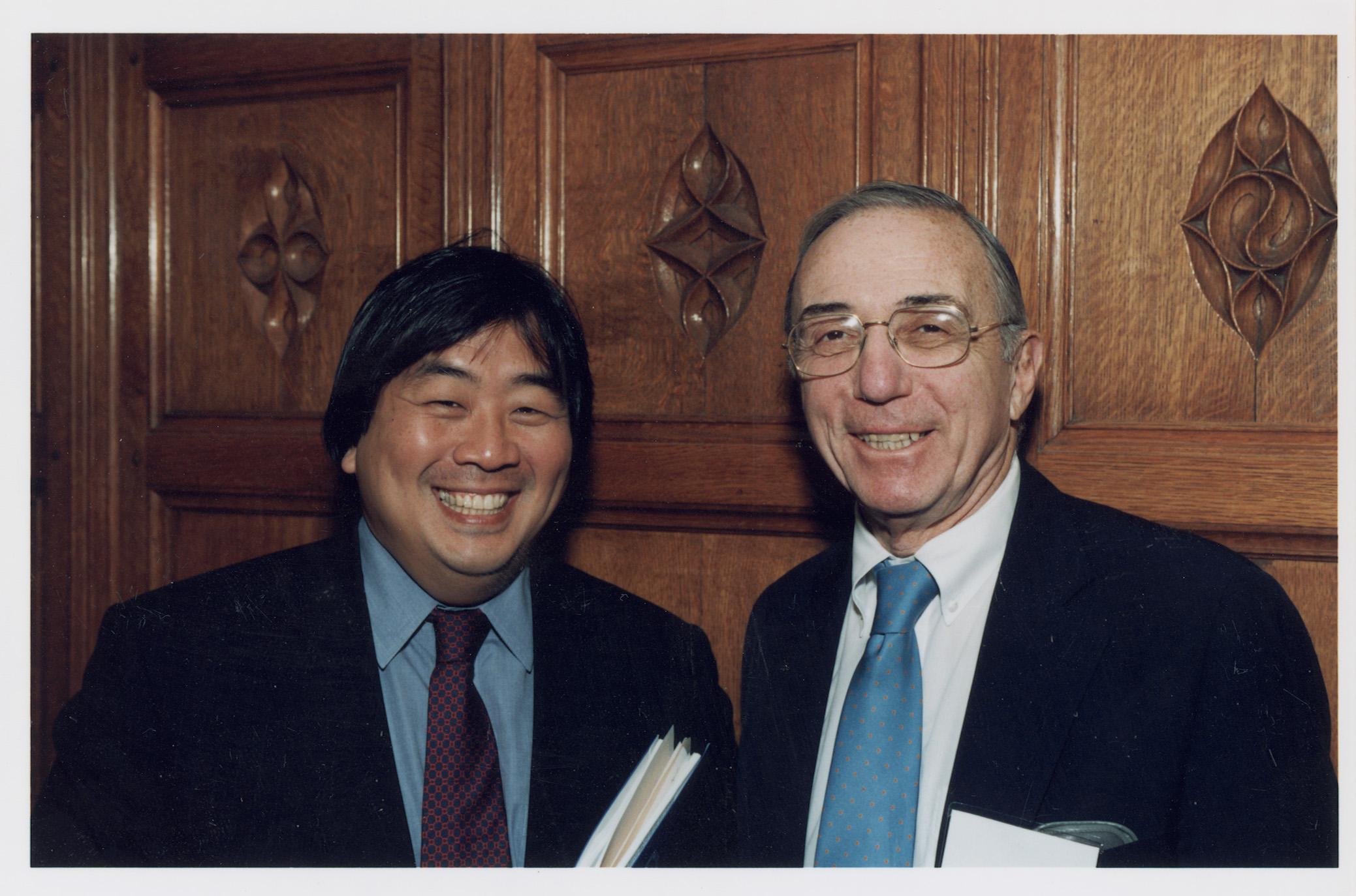 YLS Dean Harold Hongju Koh and Robert Todd Lang '47