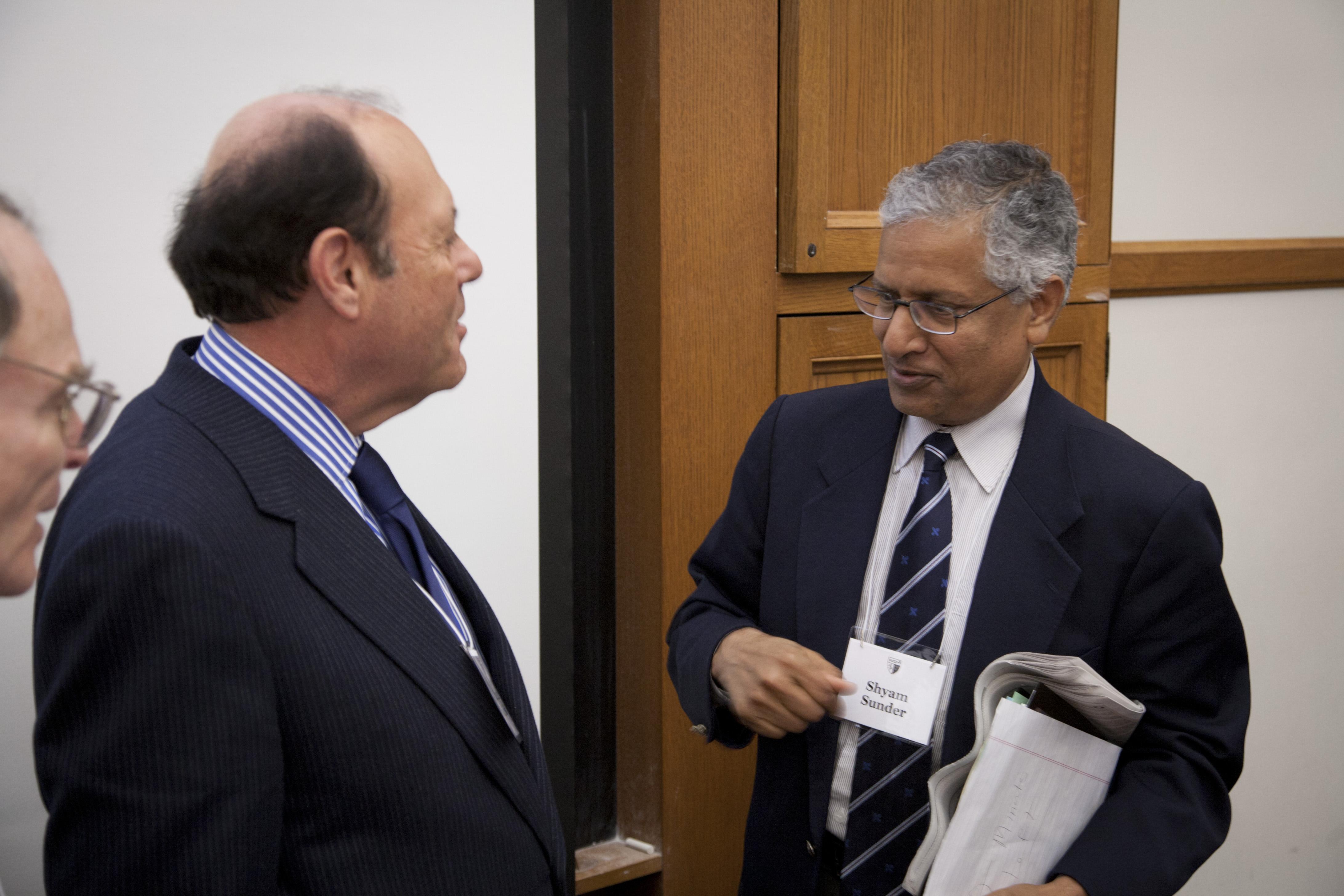 Eugene Ludwig '73 and Yale SOM Prof. Shyam Sunder
