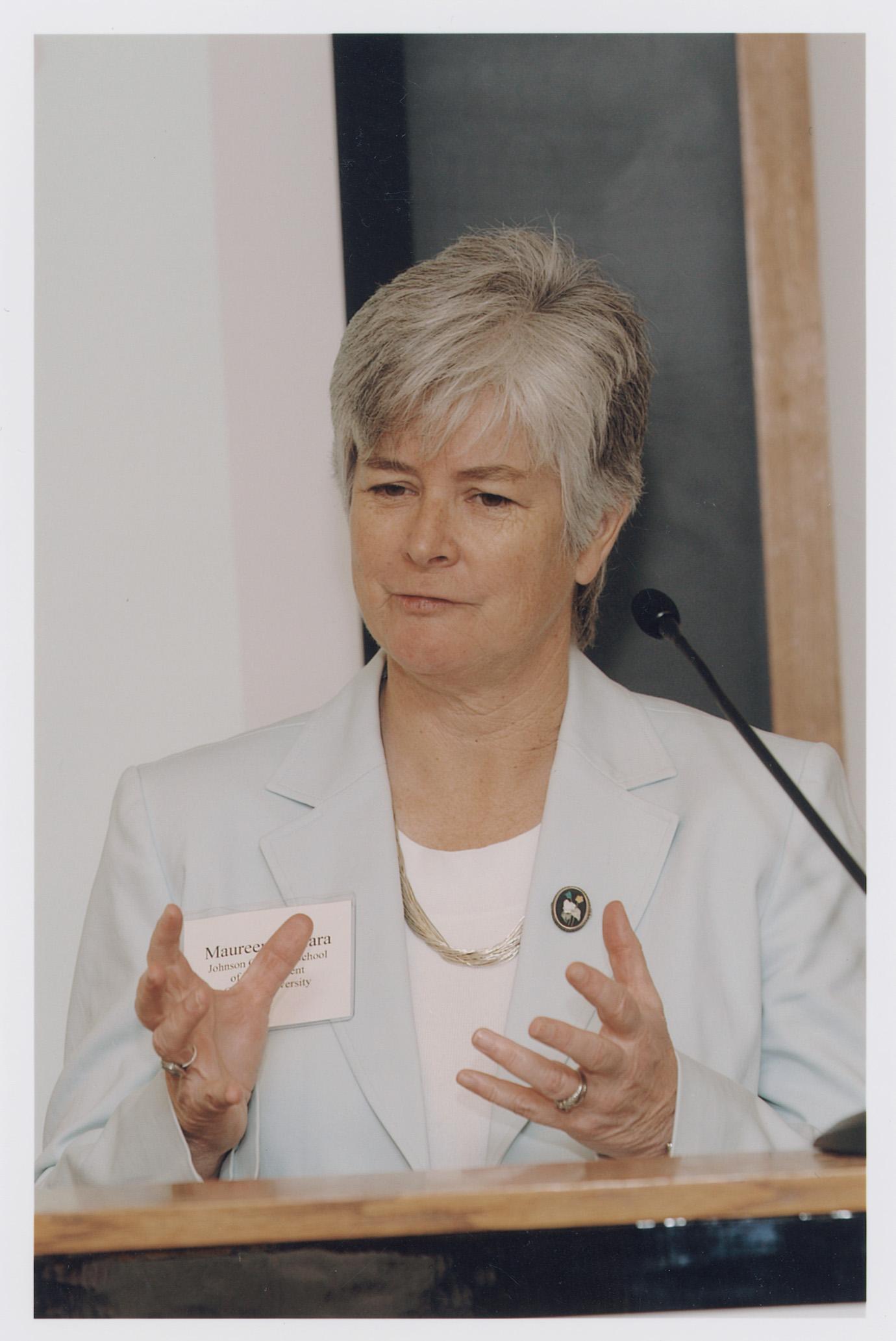 Cornell Mgmt. Prof. Maureen O'Hara