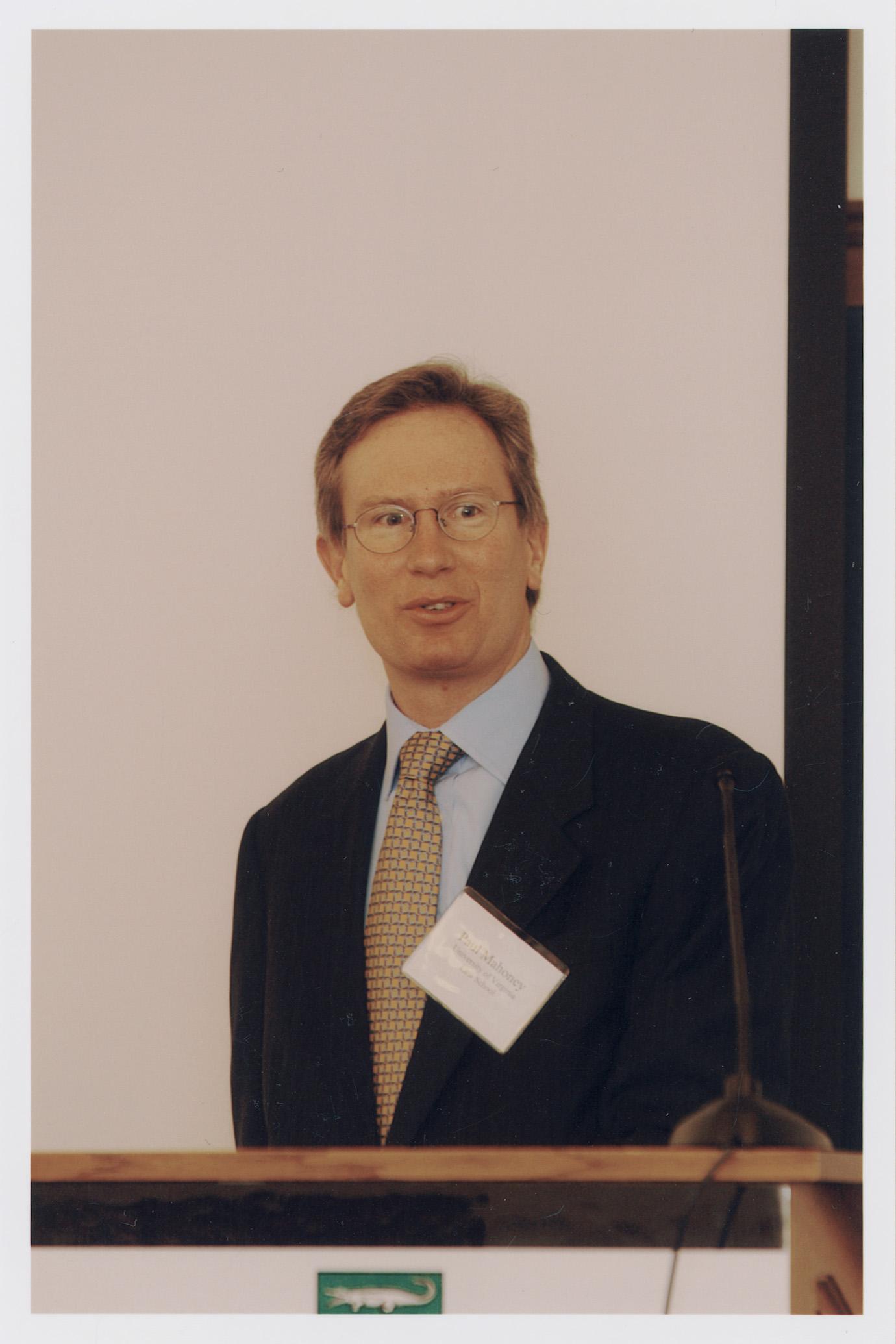 UVA Law Prof. Paul Mahoney '84