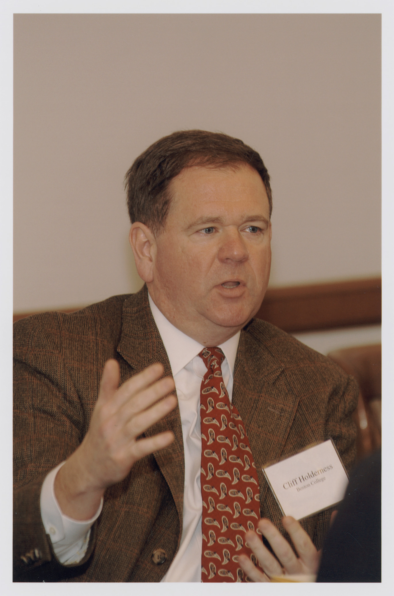 Boston College Mgmt. Prof. Clifford G. Holderness