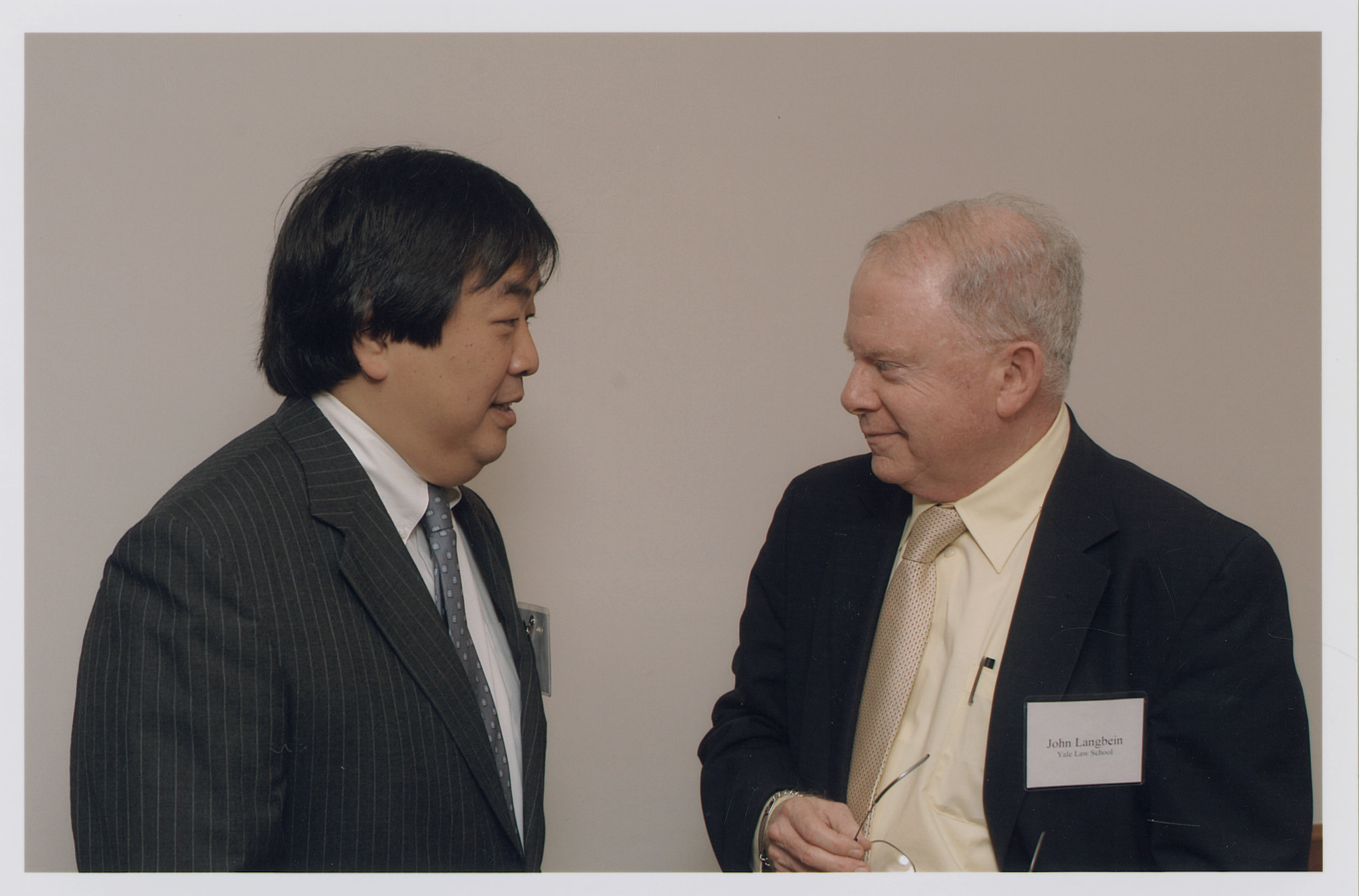 YLS Dean Harold Hongju Koh and YLS Prof. John Langbein