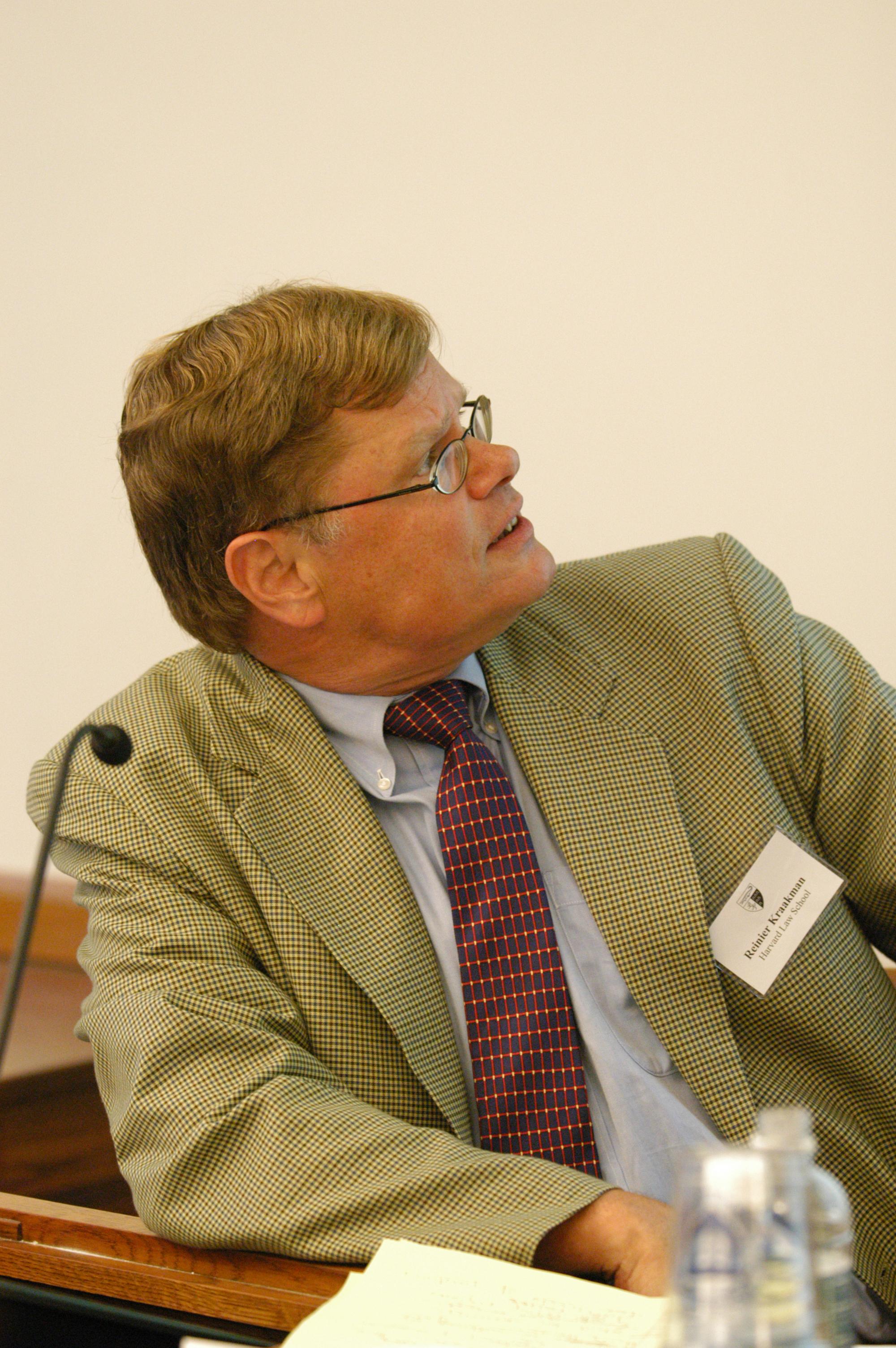 Harvard Law Prof. Reiner Kraakman '79