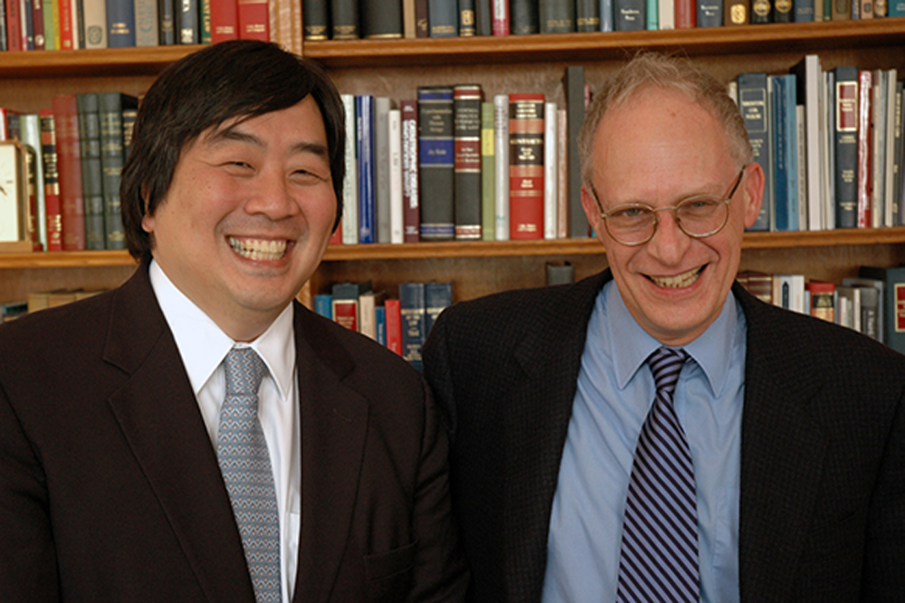 YLS Dean Harold Koh and Harvard Econ. Prof. Oliver Hart