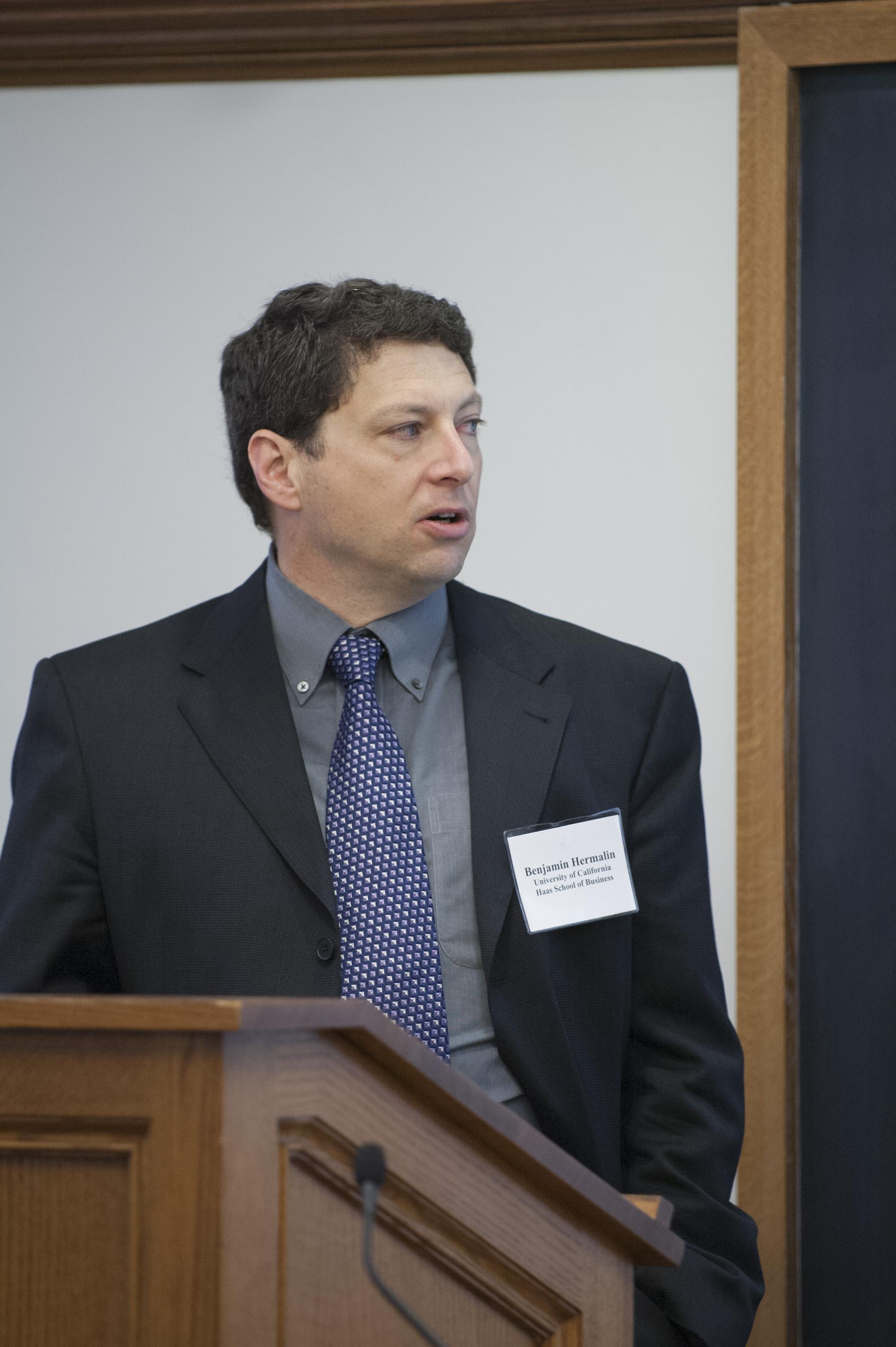 Berkeley Haas Prof. Benjamin Hermalin
