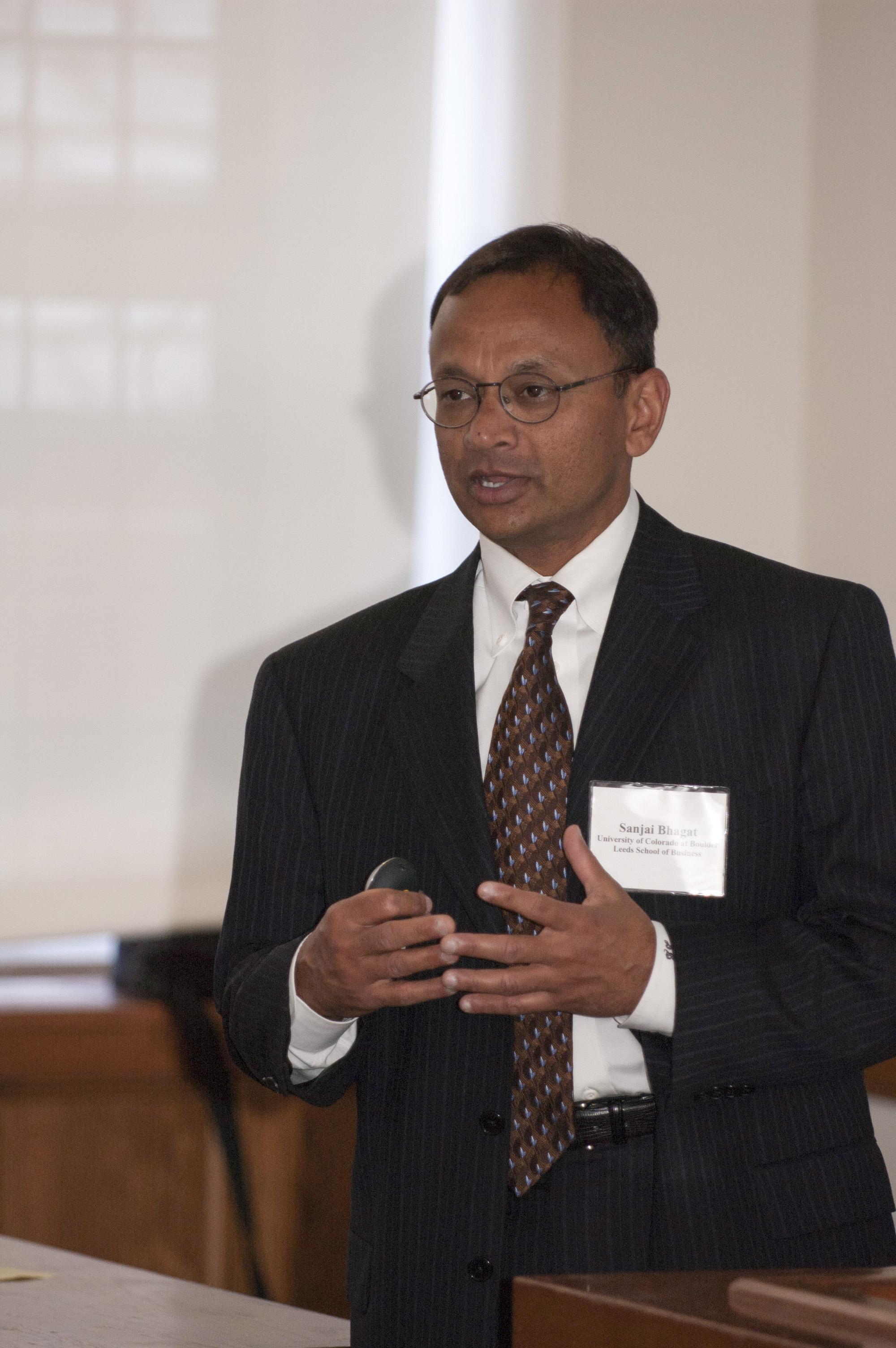 U. of Colorado Prof. Sanjai Bhagat
