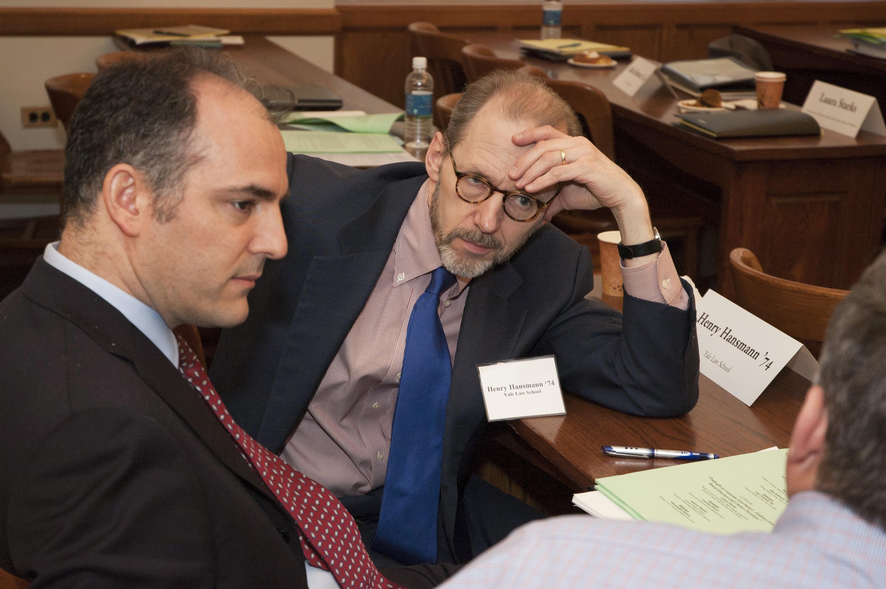USC Law Prof. Ehud Kamar and YLS Prof. Henry Hansmann '74