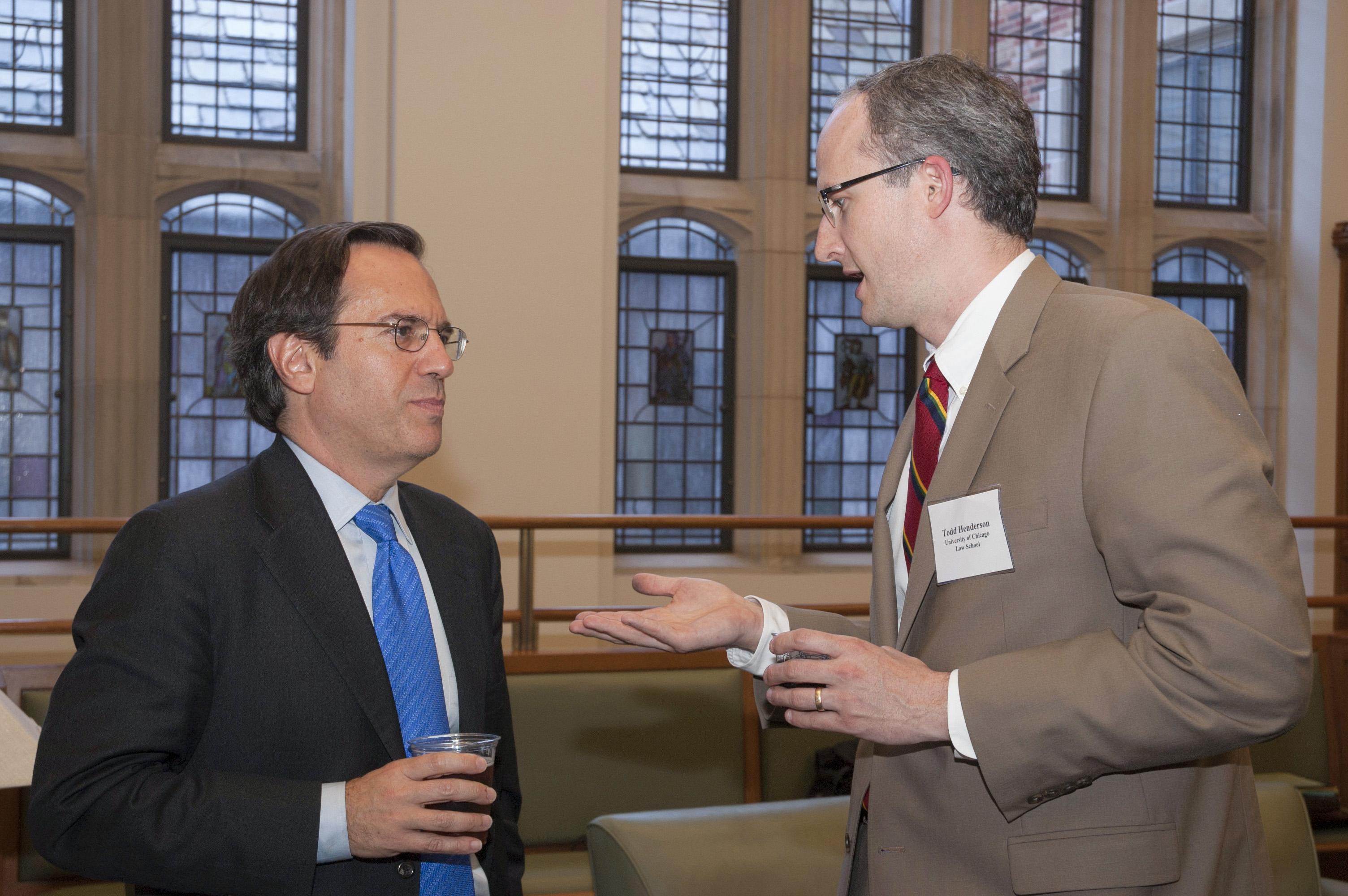 Gerson Zweifach '79 and Chicago Law Prof. Todd Henderson