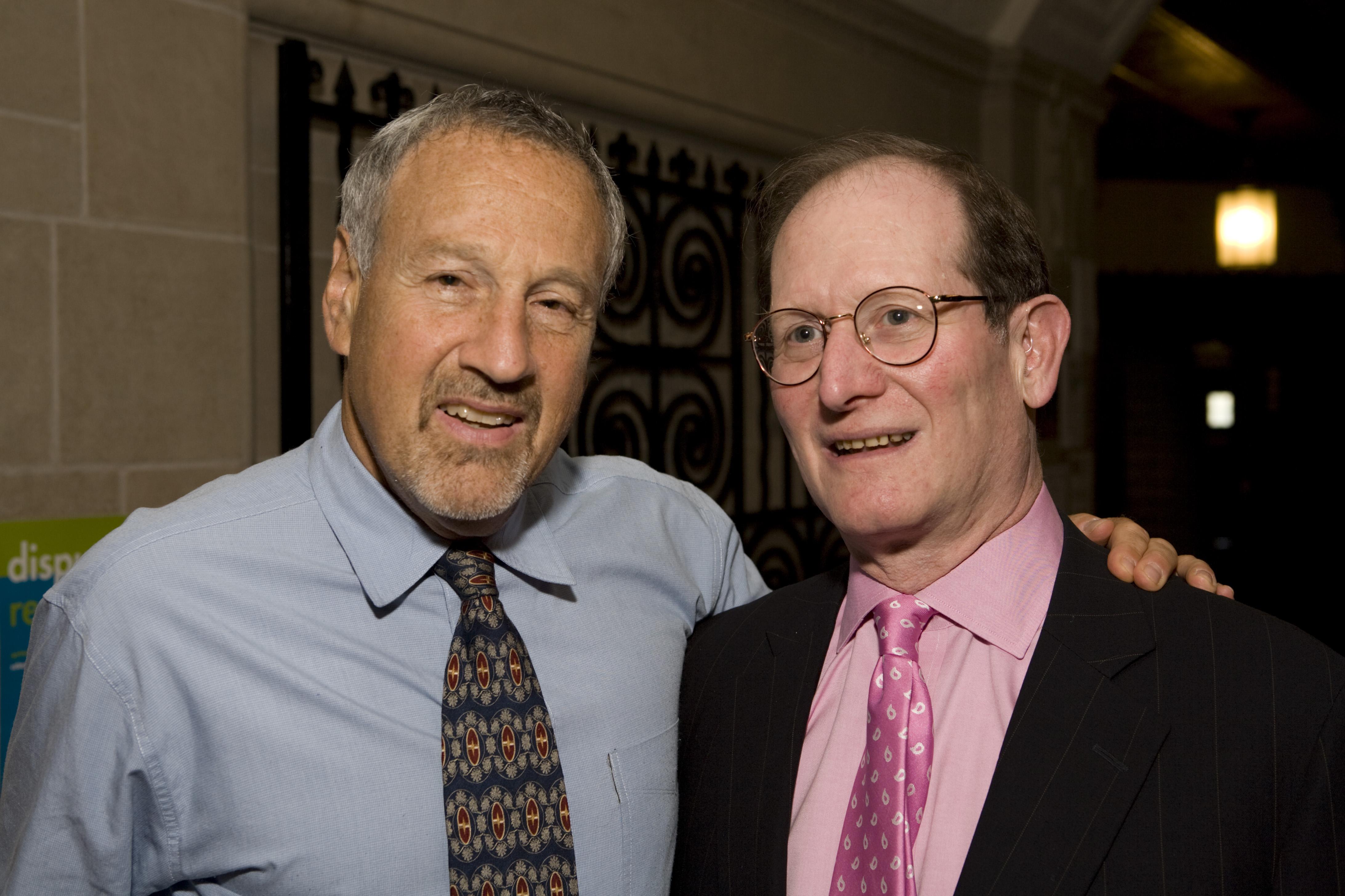 YLS Prof. Peter Shuck and Ben Heineman '71