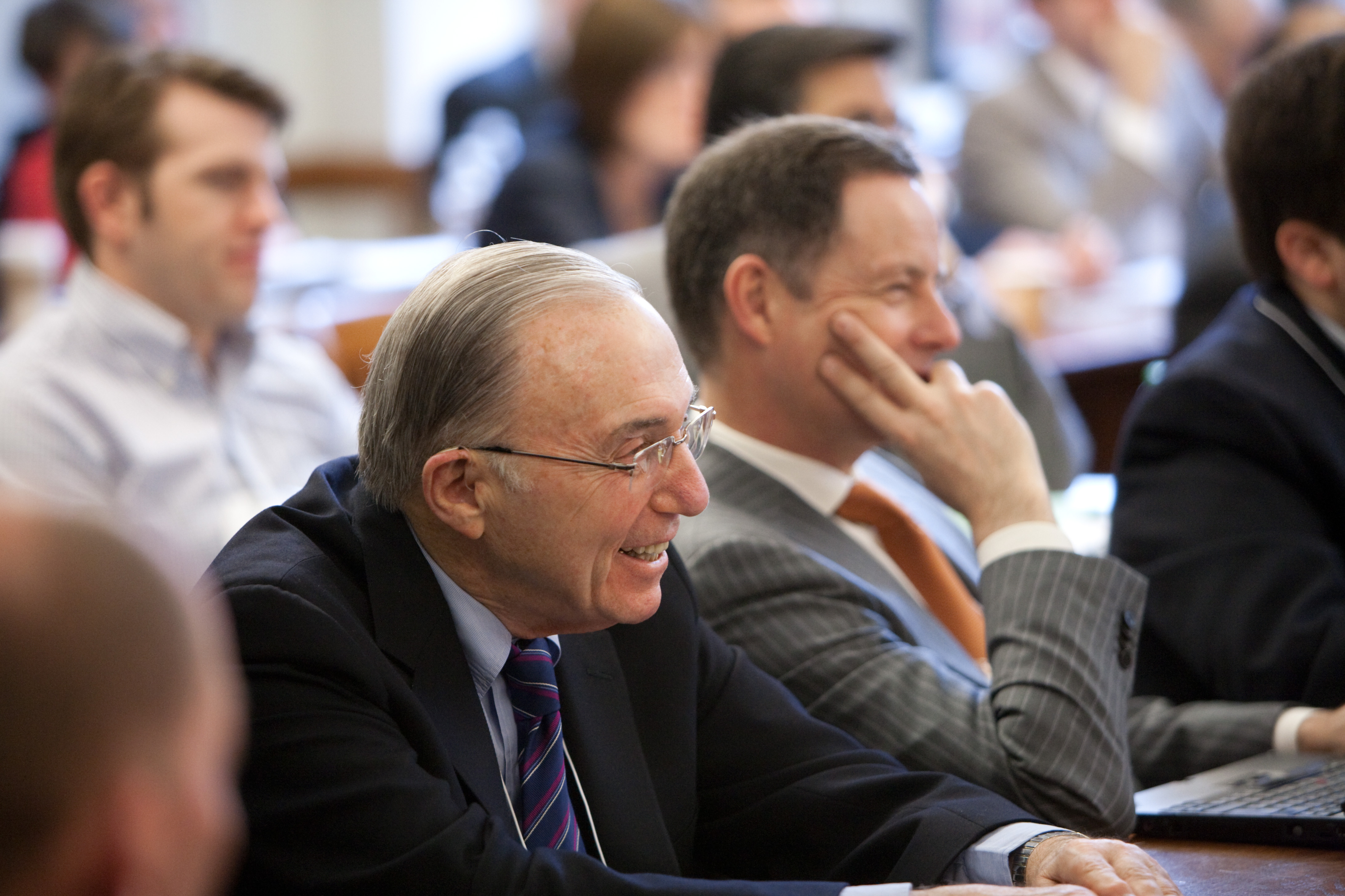 Robert Todd Lang '47 and ETH Zurich Prof. Gerard Hertig