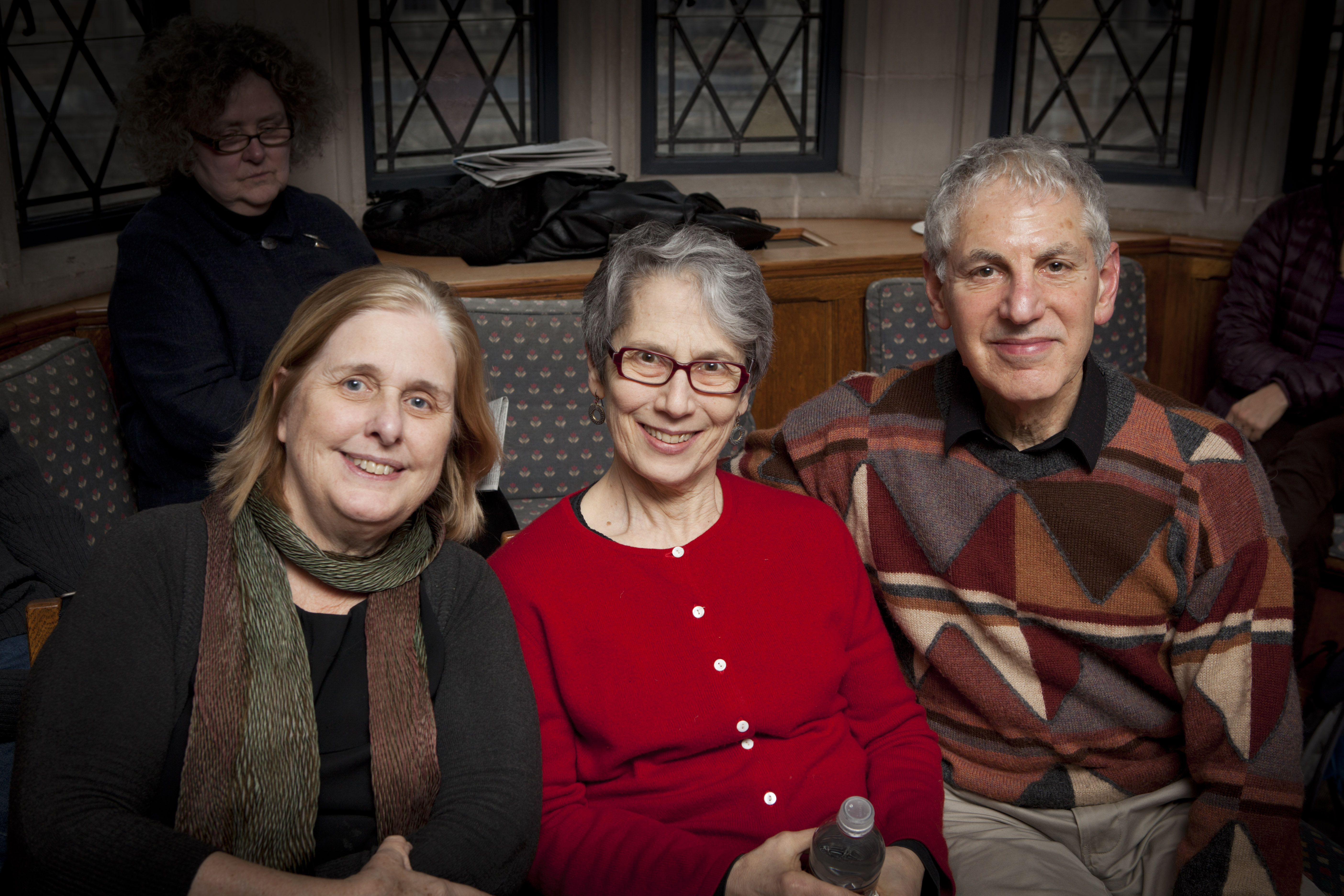 Carol Ross, Linda Burt, and YLS Prof. Robert Burt '64