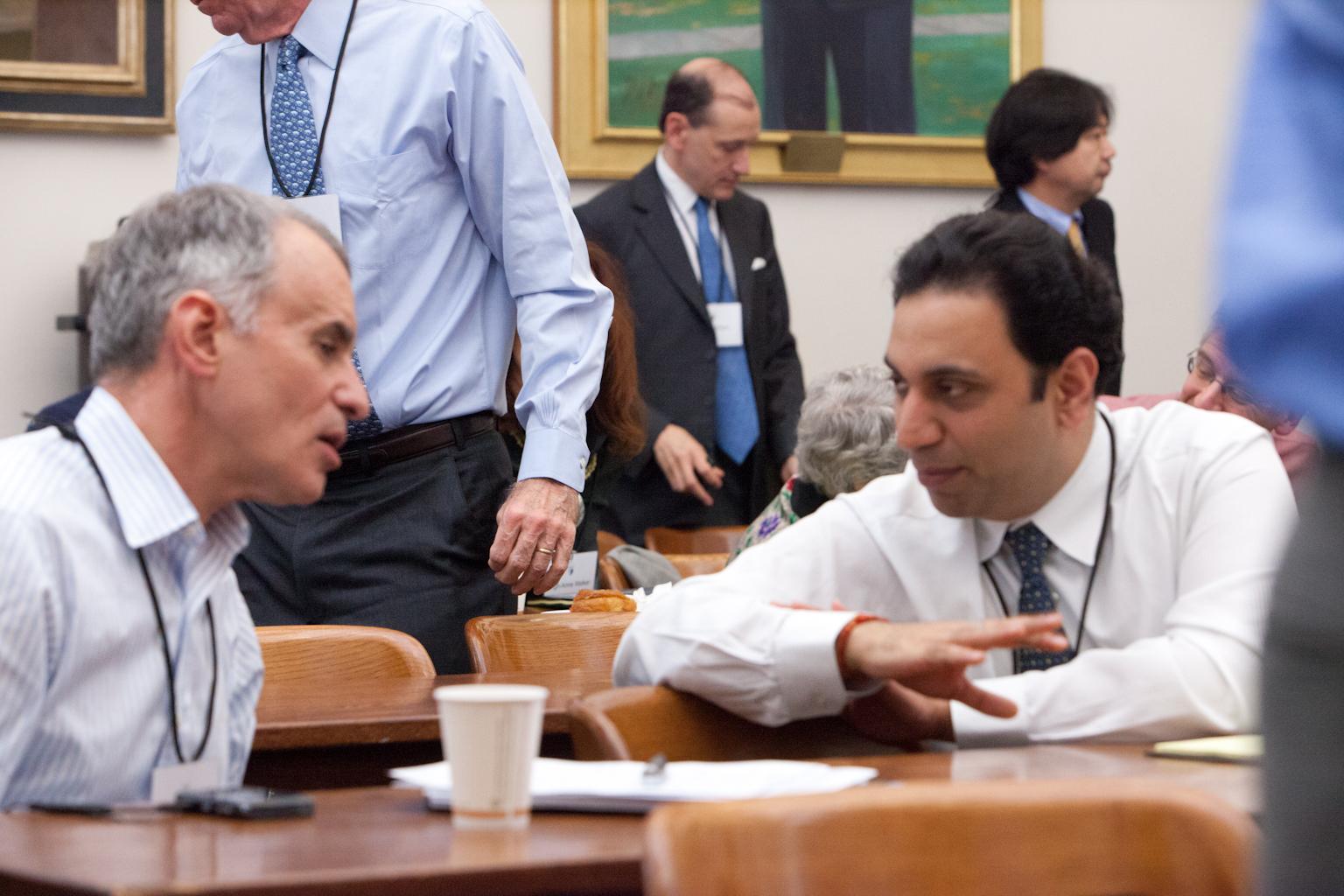 Jay Newman and Michigan Law Prof. Vic Khanna