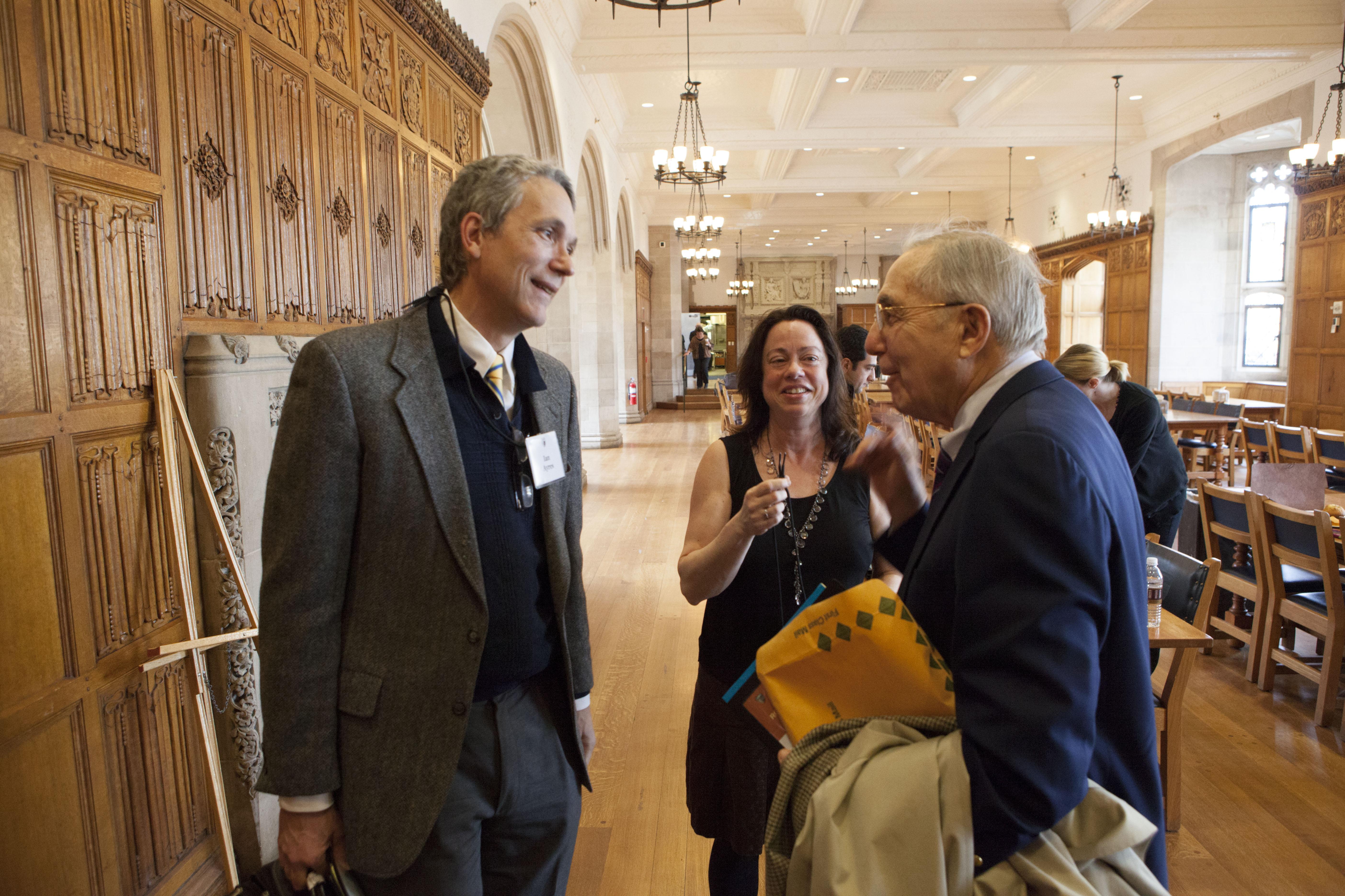 YLS Prof. Ian Ayres '86, Pat Florio, and Robert Todd Lang '47
