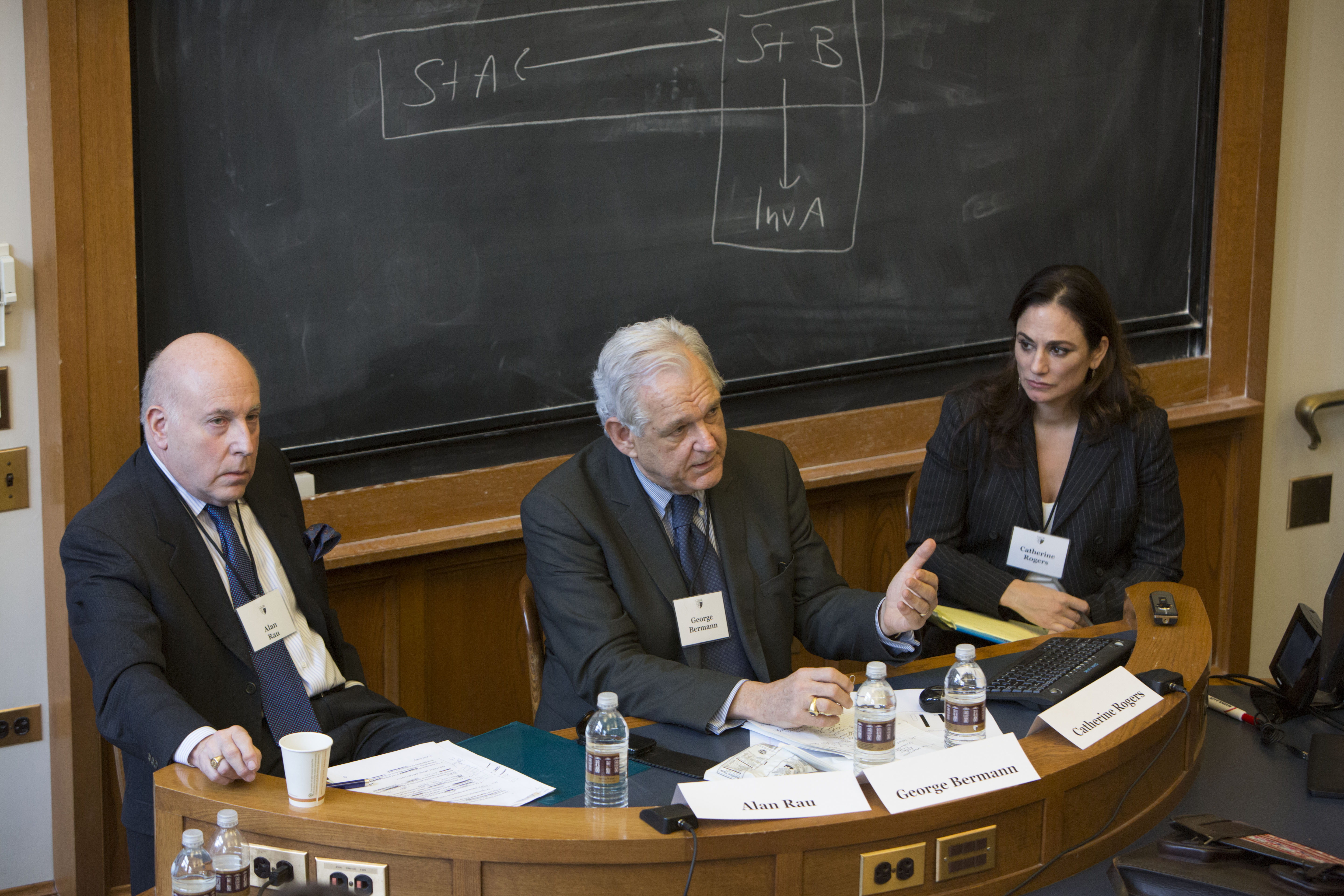 Texas Law Prof. Alan S. Rau, Columbia Law Prof. George Bermann, and Penn State Law Prof. Catherine Rogers