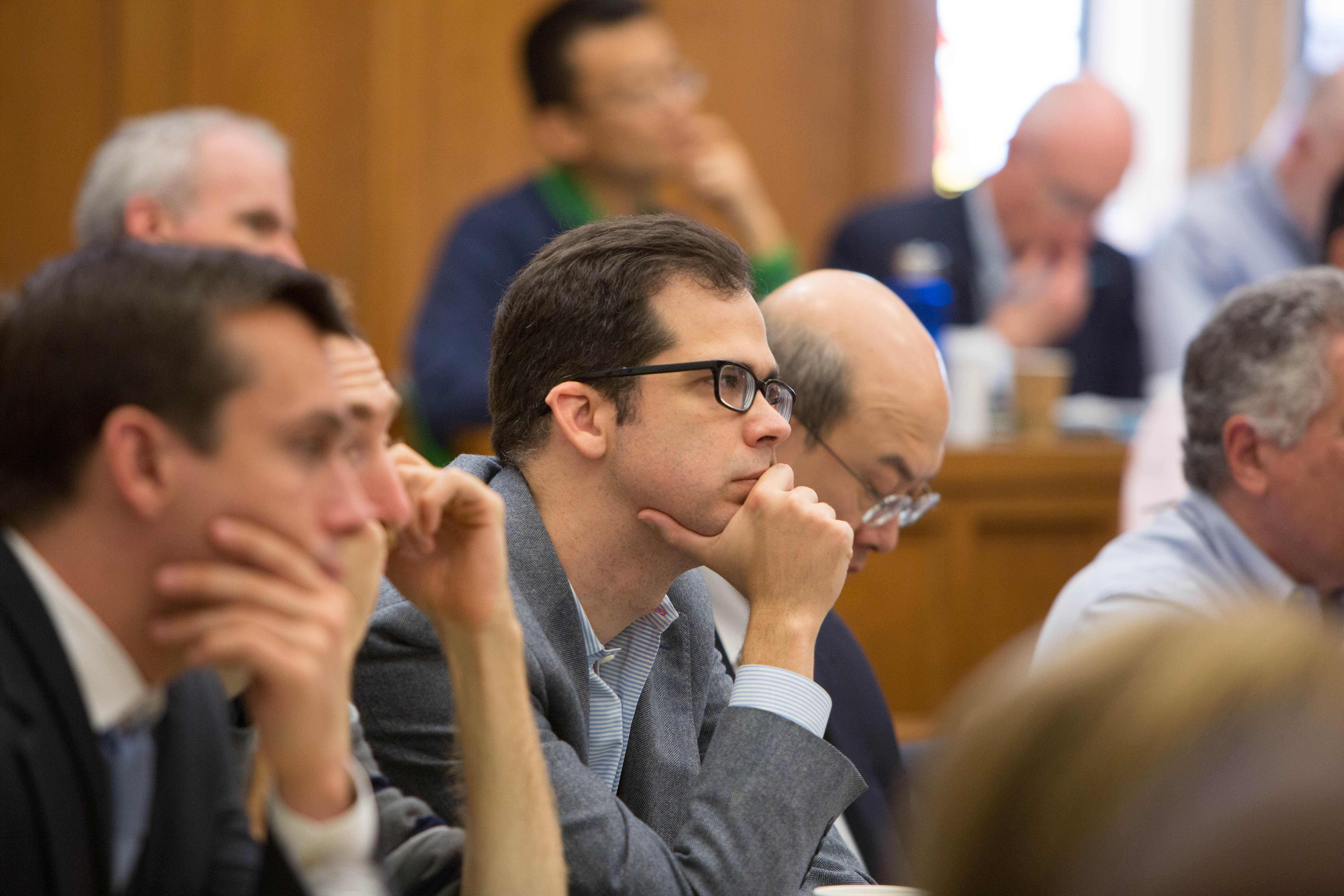 Columbia Law Prof. Robert Jackson, NYU Law Prof. Ryan Bubb '05 and MIT Sloan Prof. Andrew Lo