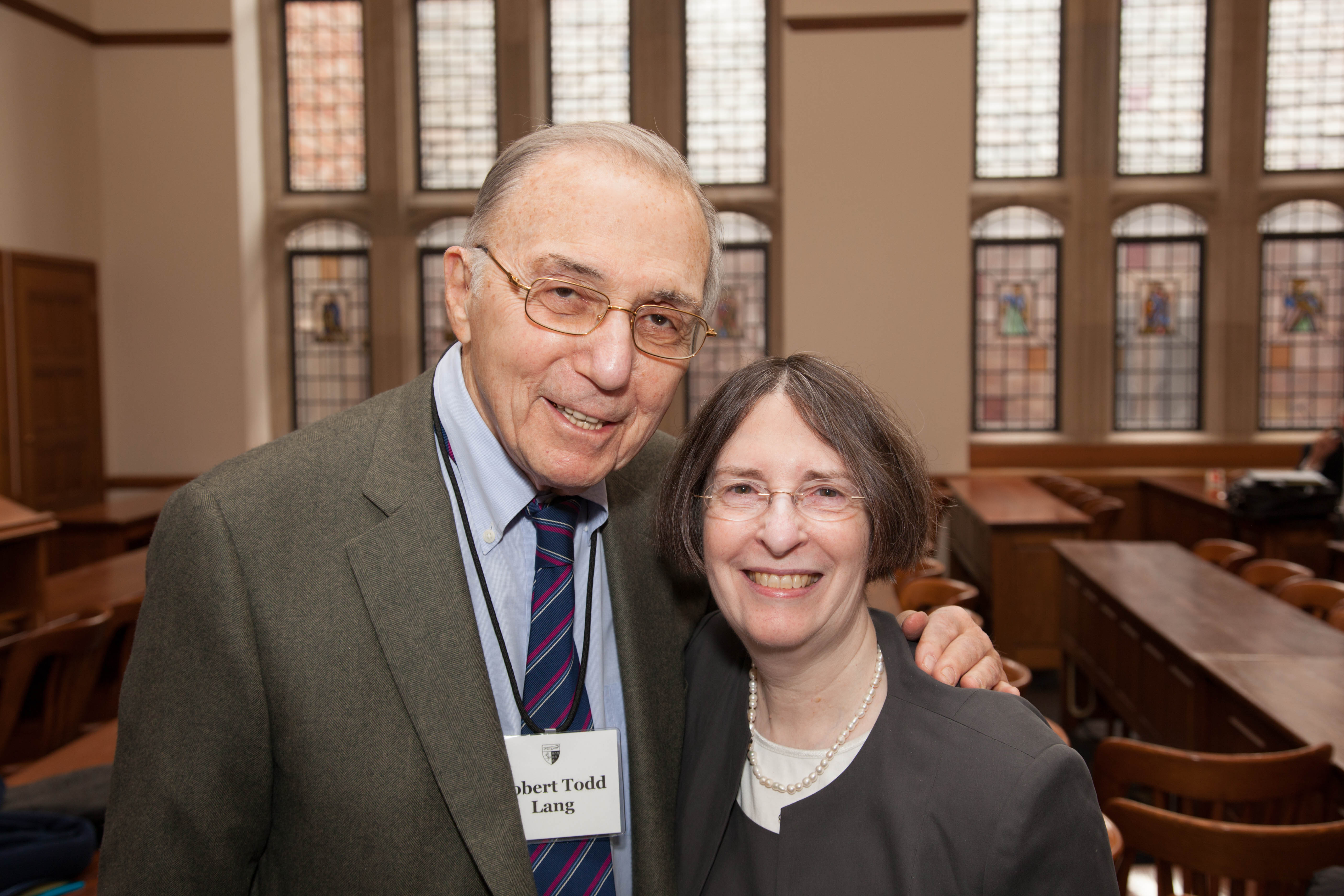 Robert Todd Lang '47 and YLS Prof. & Center Dir. Roberta Romano '80
