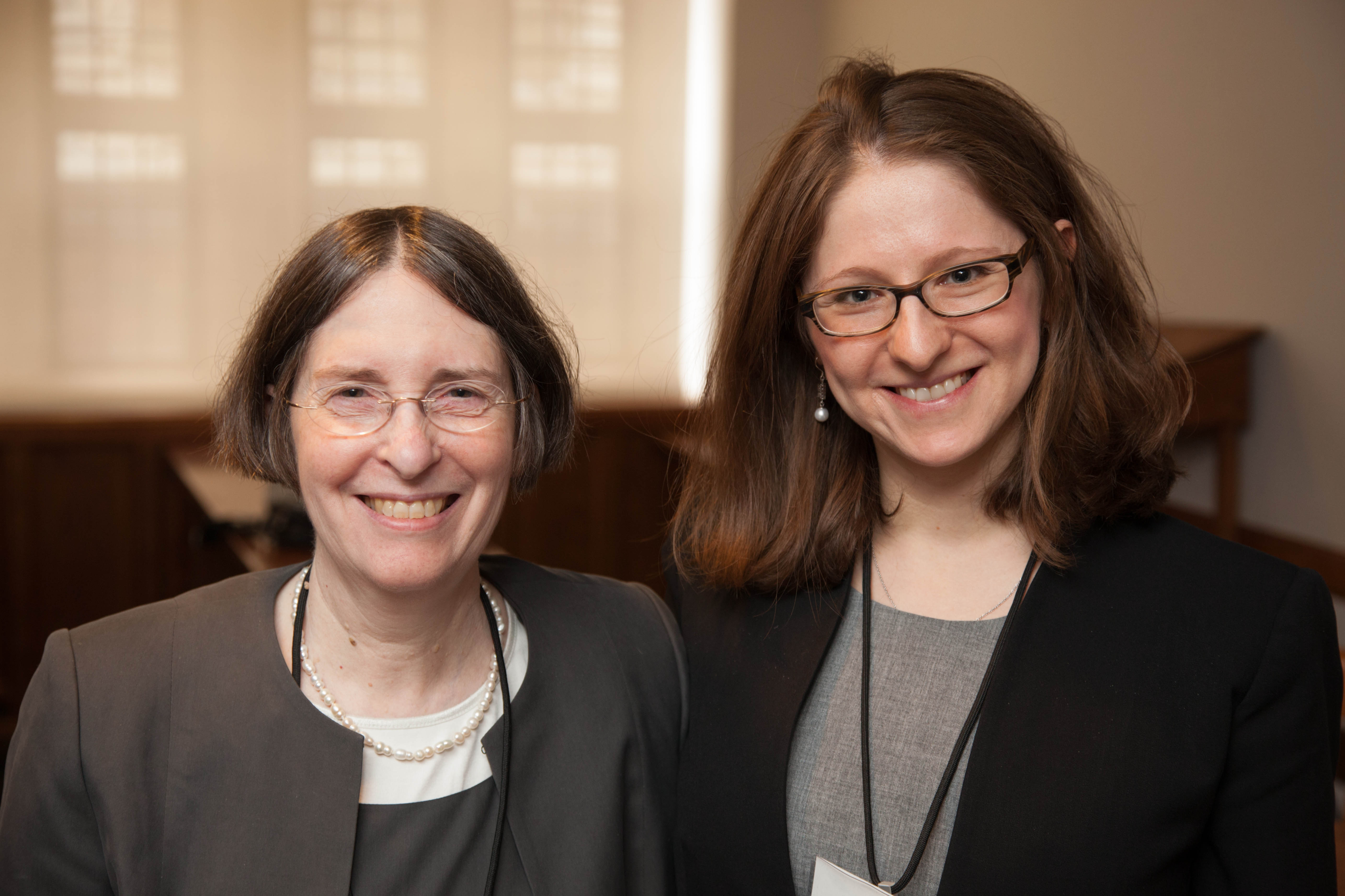 YLS Prof. and Center Dir. Roberta Romano '80 and Natalya Shnitser '09