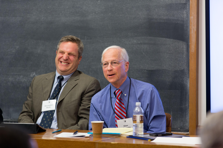 Toronto Mgmt. Prof. Alexander Dyck and YLS Prof. Alan Schwartz '64
