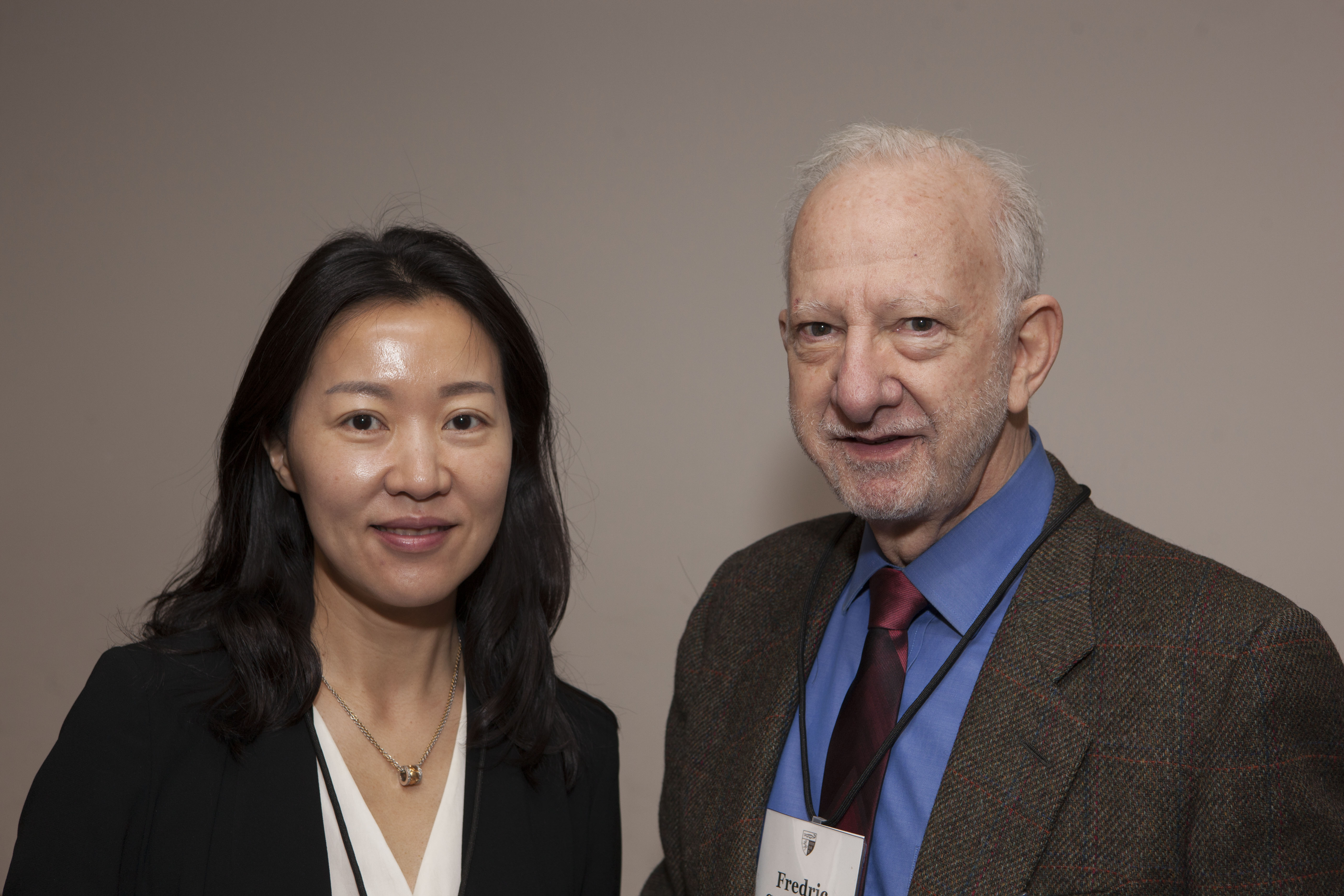 Jennifer Jiang and Fredric Schneider '66