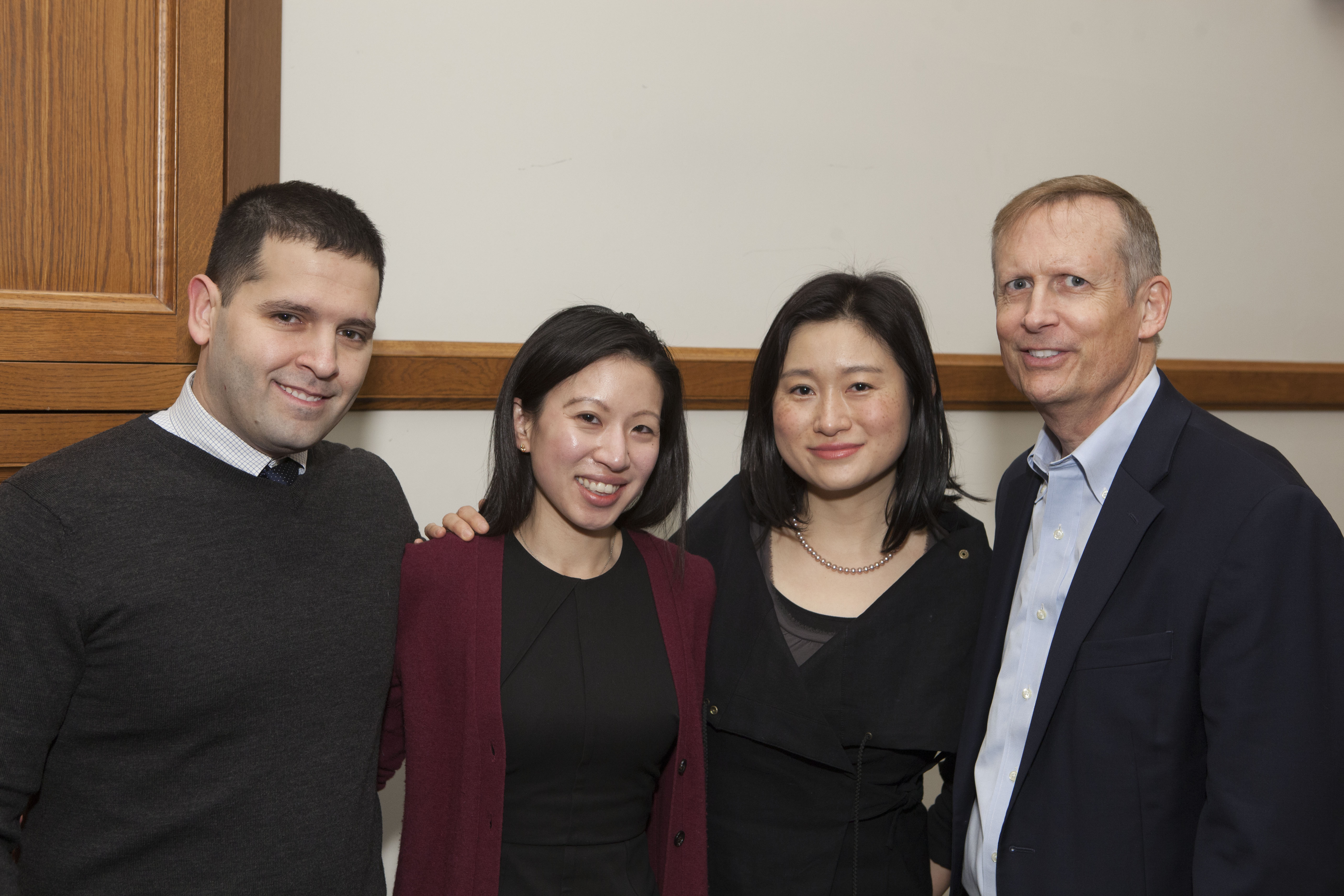 Joseph Torregrossa, Jessie Cheng, Center Exec. Dir. Nancy Liao '05, and Rob Hunter