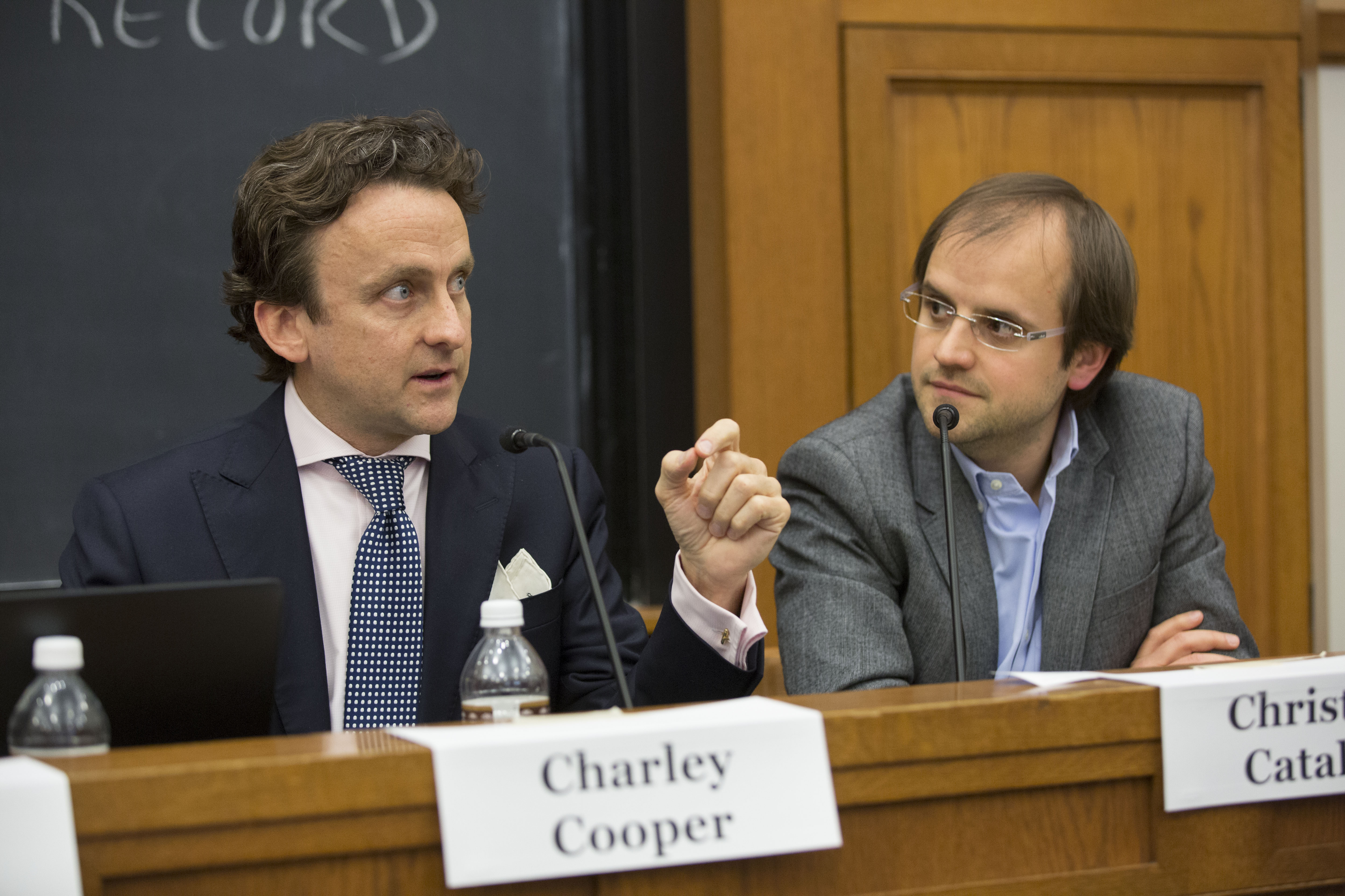 Charley Cooper and MIT Sloan Prof. Christian Catalini