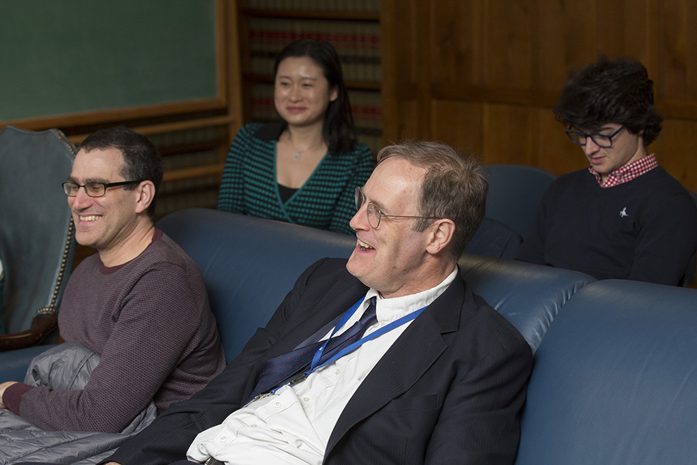 Yale SOM Prof. Andrew Metrick and Yale SOM Senior Lecturer in Finance William B. English (foreground)