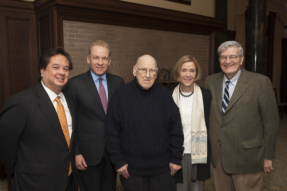 George T. Conway '87, Robert J. Giuffra, Jr. '87, the Hon. Ralph K. Winter '60, YLS Prof. Kate Stith, and the Hon. José A. Cabranes '65