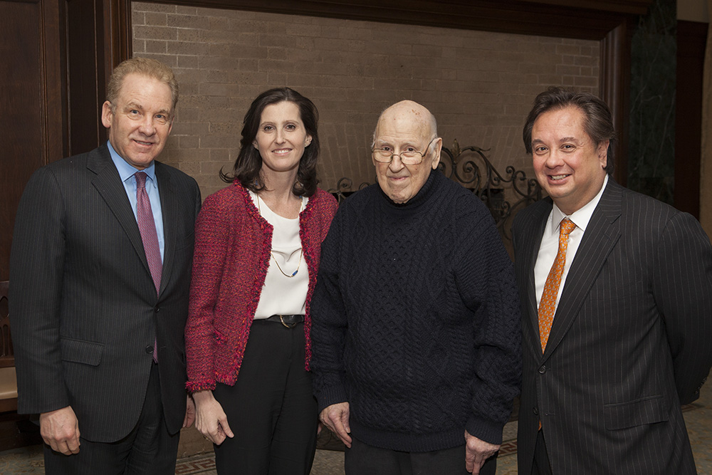 Robert J. Giuffra, Jr. '87, YLS Prof. Abbe Gluck '00, the Hon. Ralph K. Winter '60, and George T. Conway '87