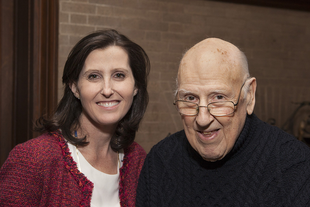 YLS Prof. Abbe Gluck '00 and the Hon. Ralph K. Winter '60