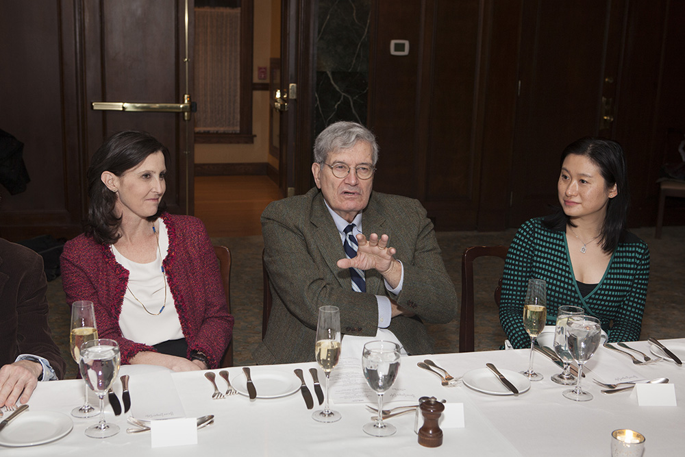 YLS Prof. Abbe Gluck '00, the Hon. José A. Cabranes '65, and Center Exec. Dir. Nancy Liao '05