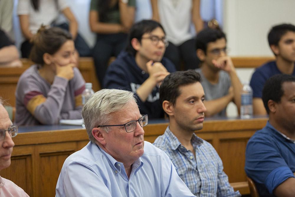 Yale SOM Prof. Gary Gorton and Mark Perelman '19 (Yale SOM) (foreground)