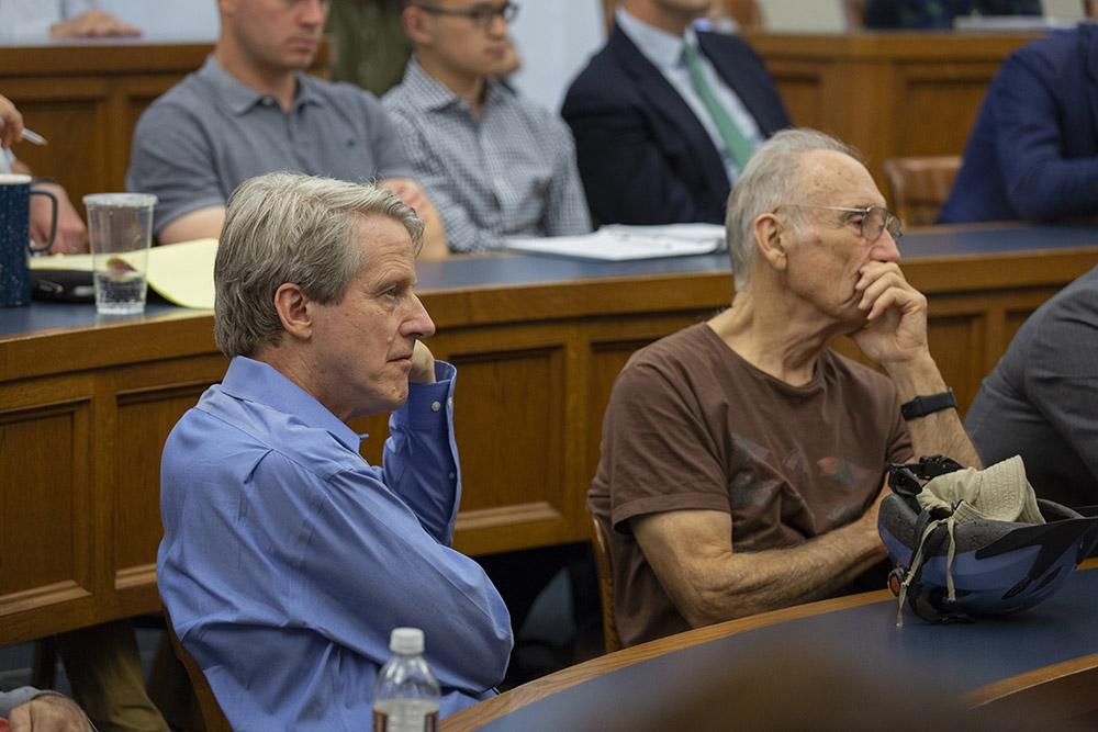 Yale Econ. and SOM Prof. Robert Shiller and Yale Econ. Prof. Emeritus William Brainard