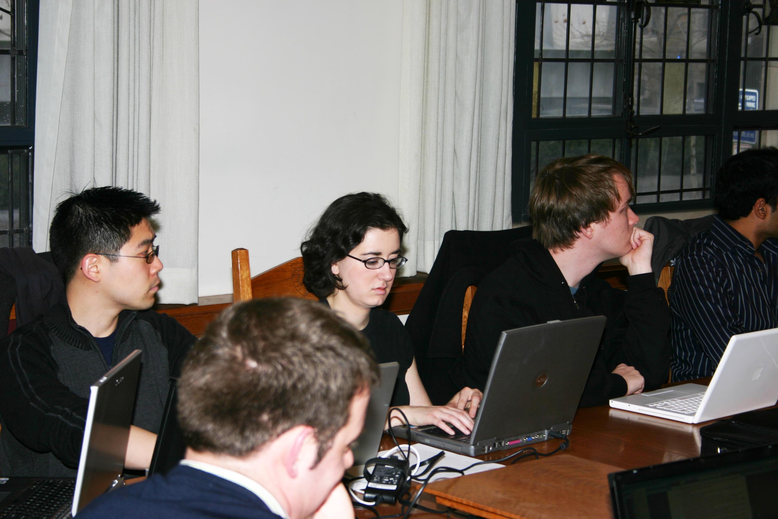 Andrew Park '08, Sara Jeruss '08, and Sander Daniels '09