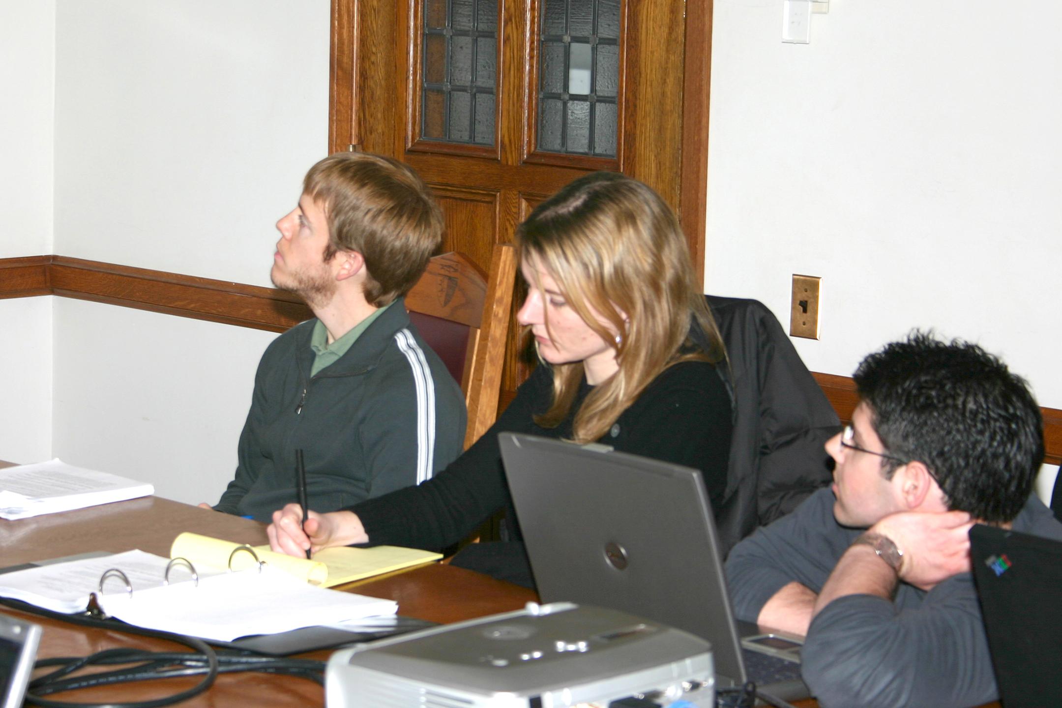 Sander Daniels '09, Giulia Good-Stefani '08, and Steven Winter '08