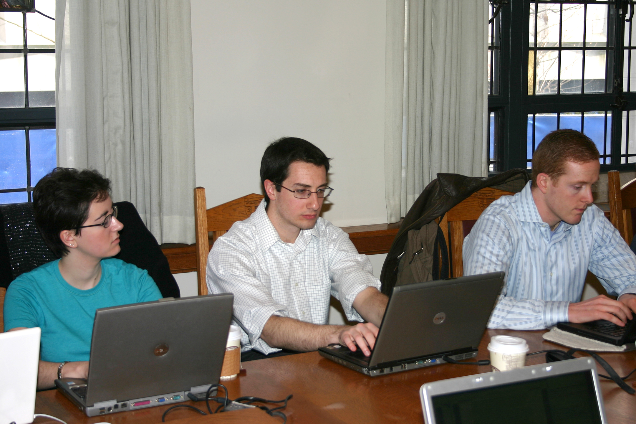 Sara Jeruss '08, Anthony Vitarelli '09, and Seth Lloyd '08