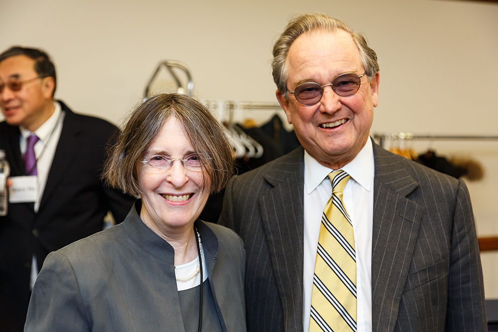 YLS Prof. and Center Dir. Roberta Romano '80 and Alfred M. Rankin '66
