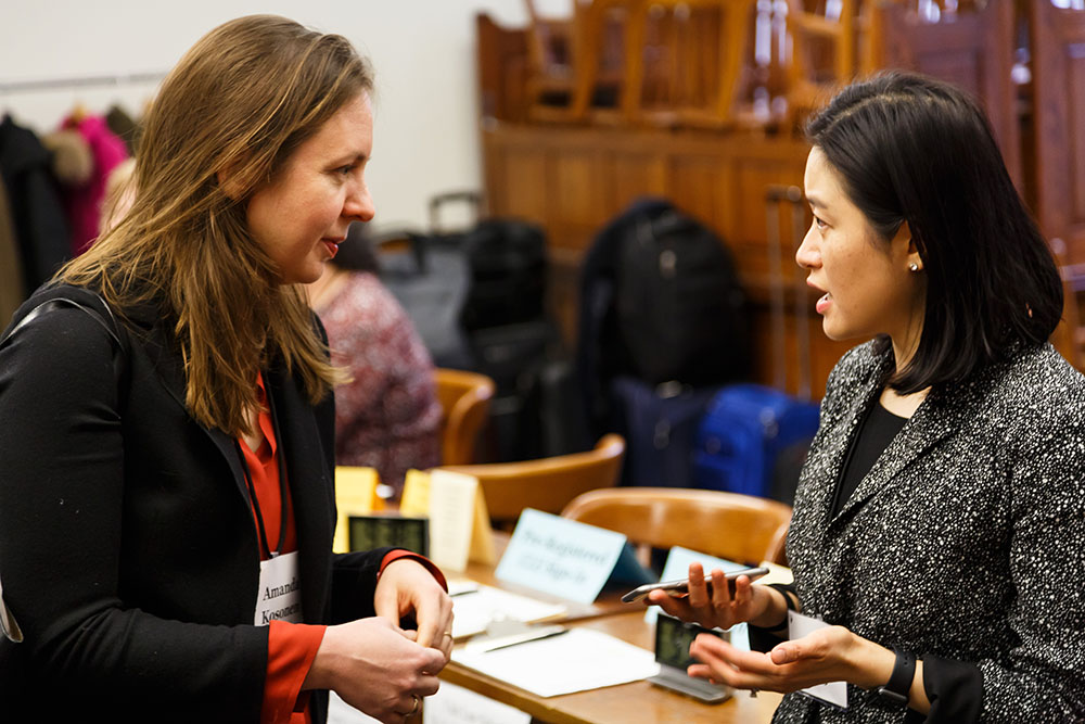 Amanda Kosonen and Center Exec. Dir. Nancy Liao '05