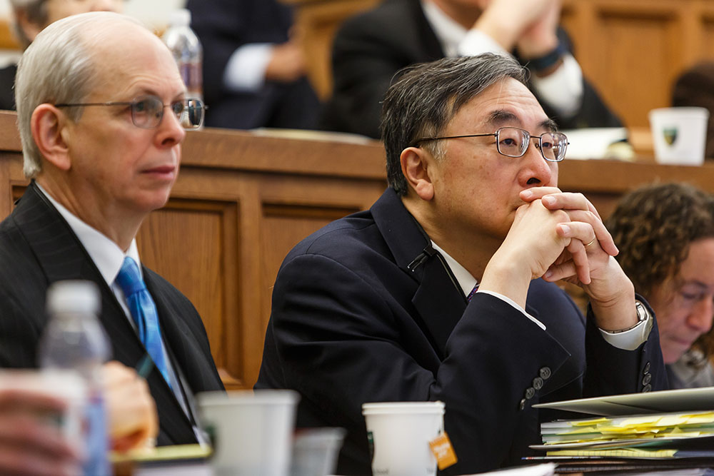 Stephen Deane and Texas Law Prof. Henry T.C. Hu '79
