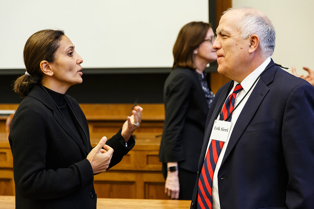 SEC Div. of Investment Mgmt. Dir. Dalia Blass and Erik Sirri conversing