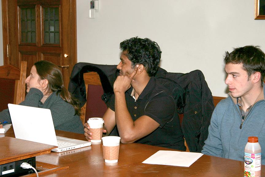 Einat Solnik LLM '11,  Avinash Venkatesh '11, and Robert Borek '13